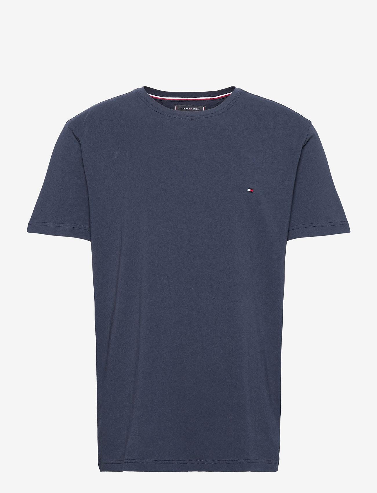 Tommy Hilfiger - CORE STRETCH SLIM CNECK TEE - t-shirts basiques - navy blazer - 0