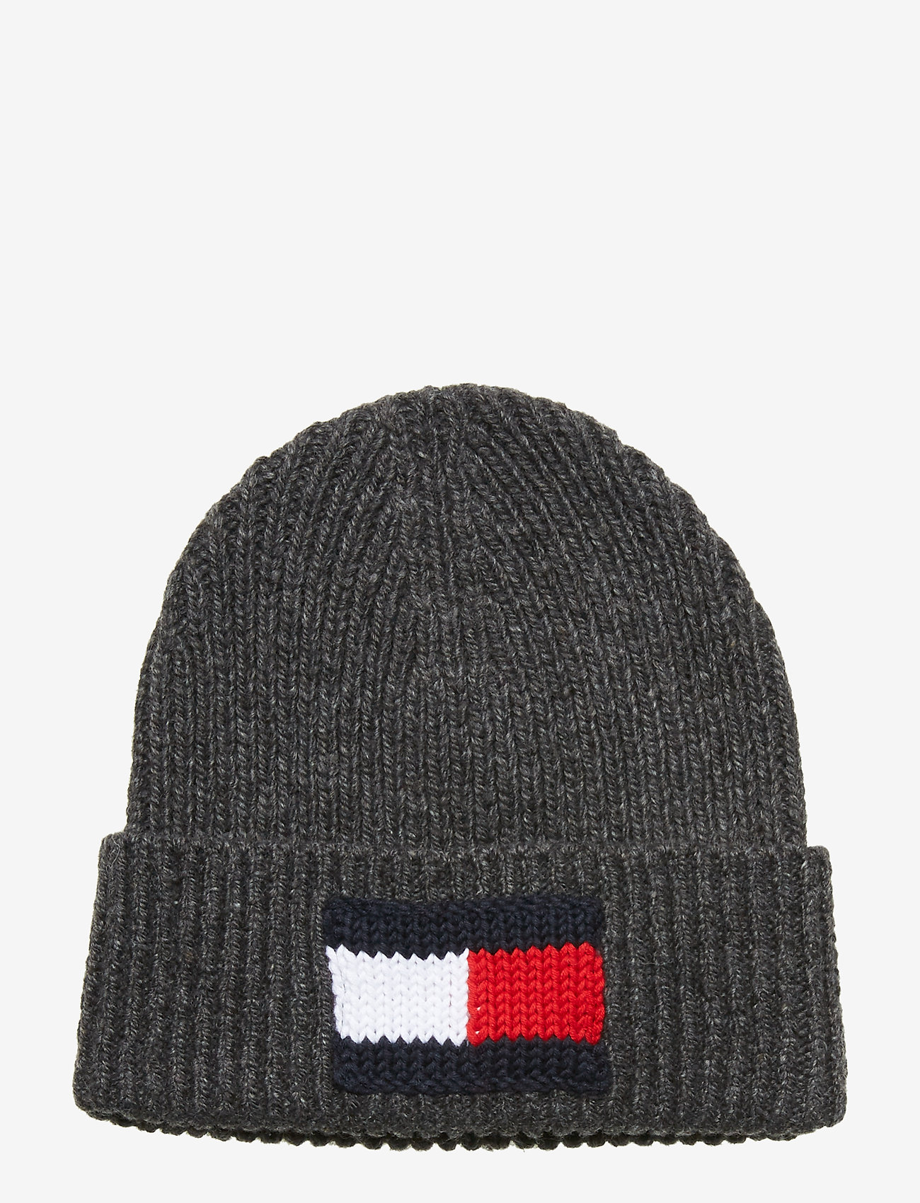 Tommy Hilfiger - BIG FLAG BEANIE - bonnet - dark grey melange - 0