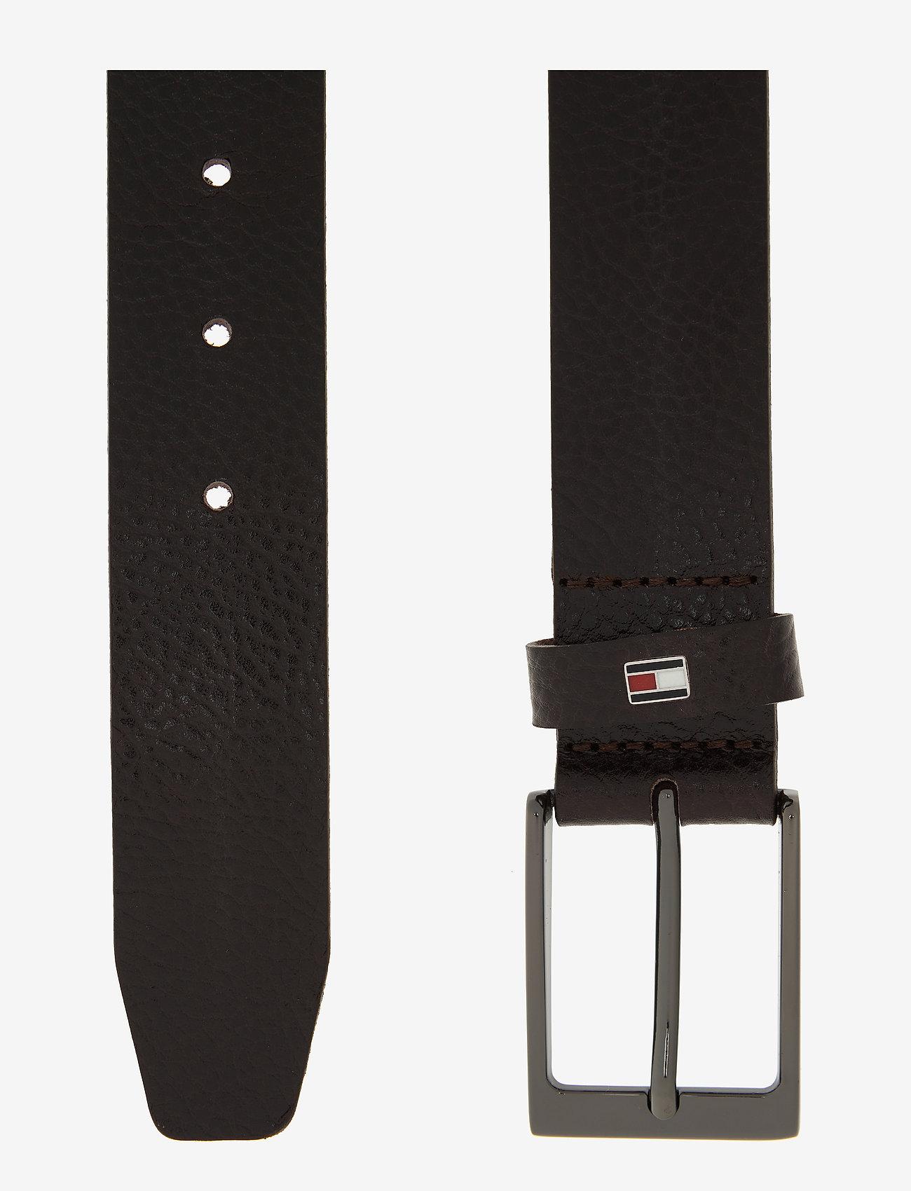 Tommy Hilfiger - LAYTON PEBBLE LEATHER 3.5 - classic belts - testa di moro