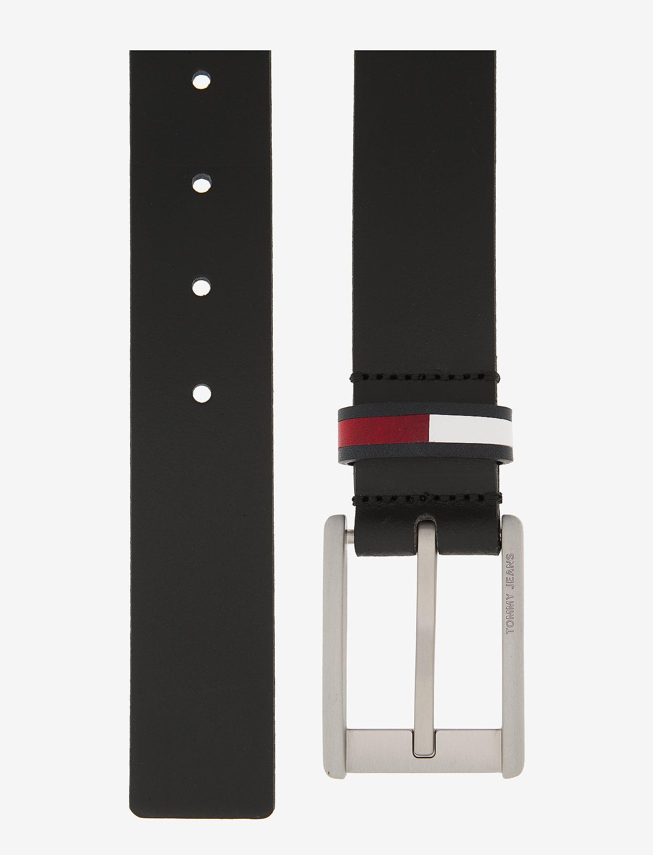Tommy Hilfiger - TJM CORP LEATHER BEL - belts - black - 1