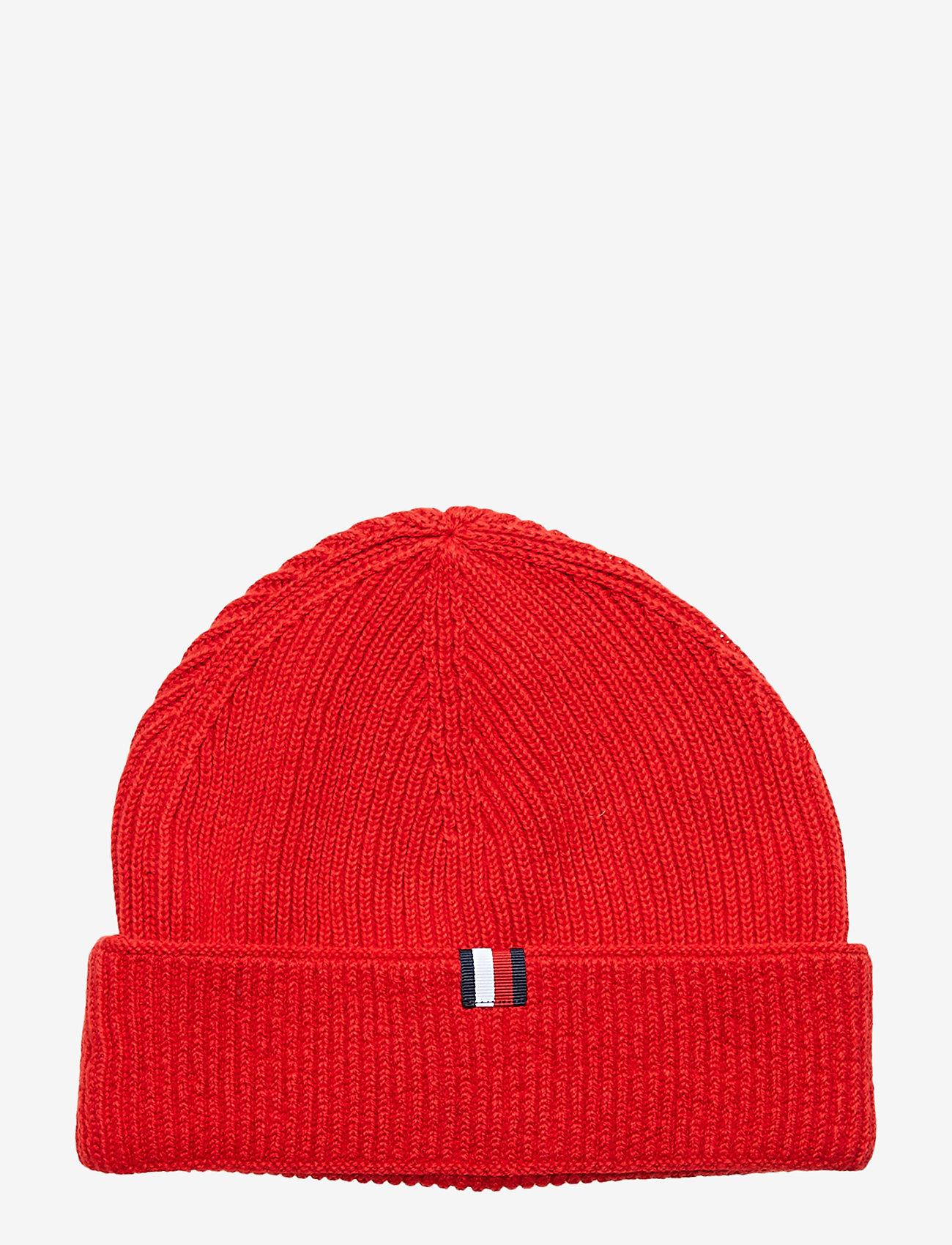 Tommy Hilfiger - TH PATCH KNIT BEANIE - bonnet - haute red - 1