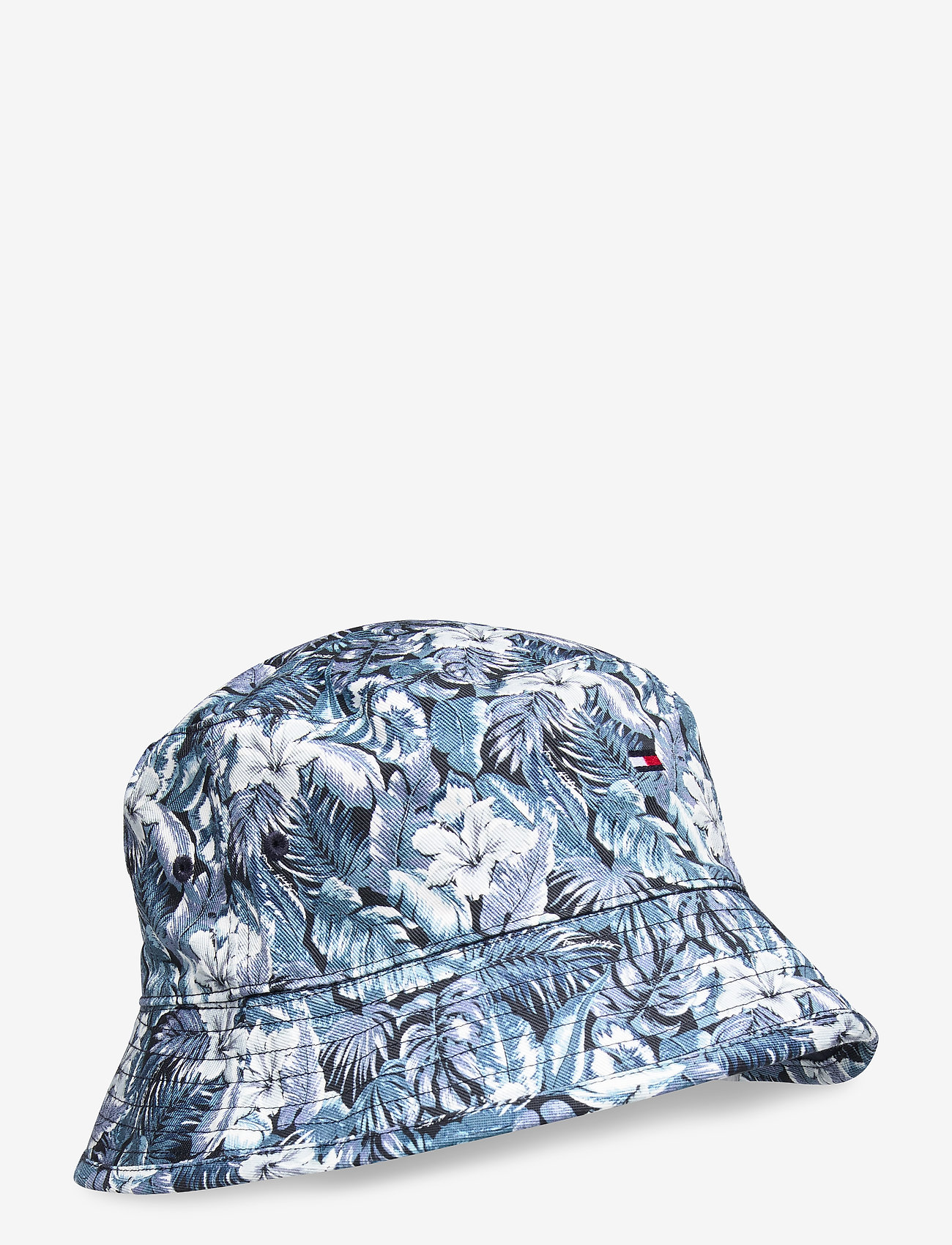 Tommy Hilfiger - FLAG BUCKET HAT REVERSIBLE - bucket hats - sky captain - 0