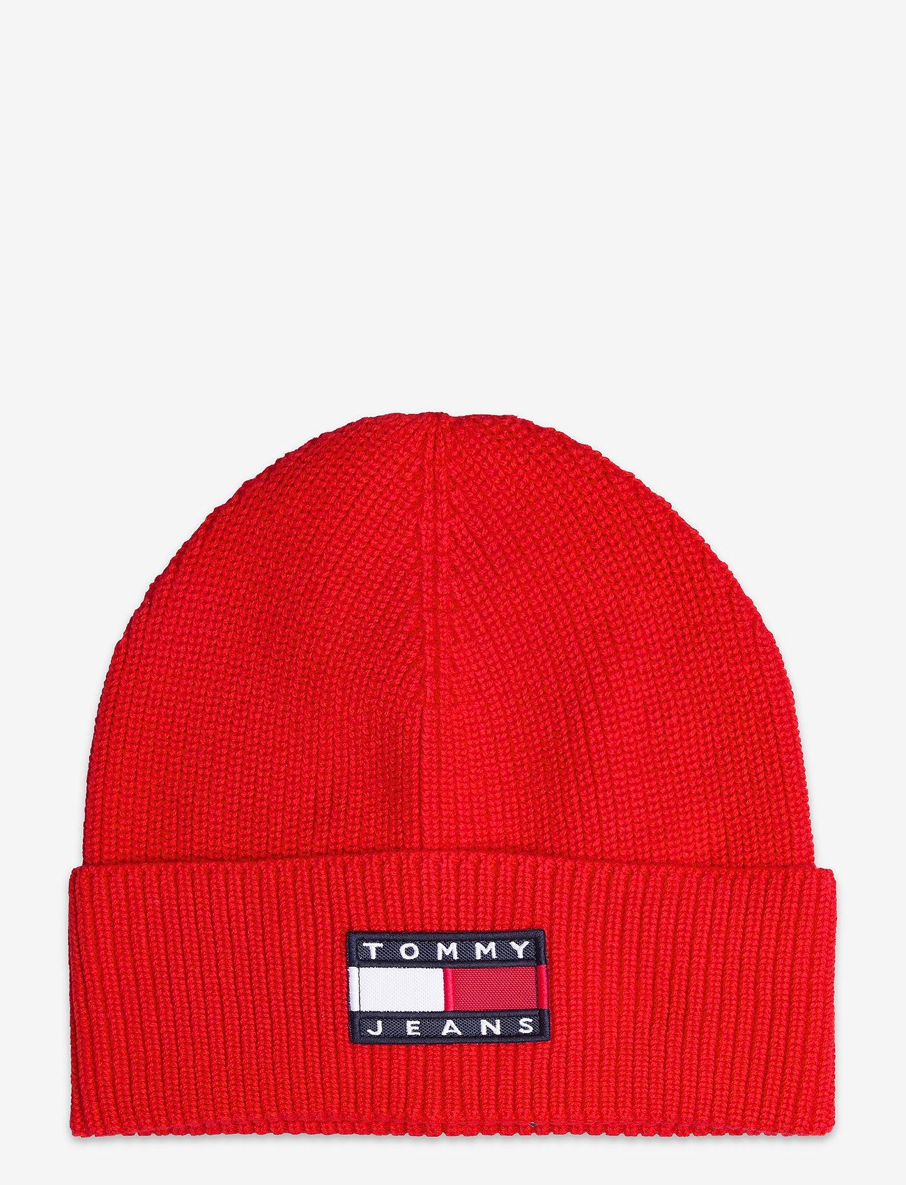 Tommy Hilfiger - TJM HERITAGE BEANIE - bonnets & casquettes - deep crimson - 0