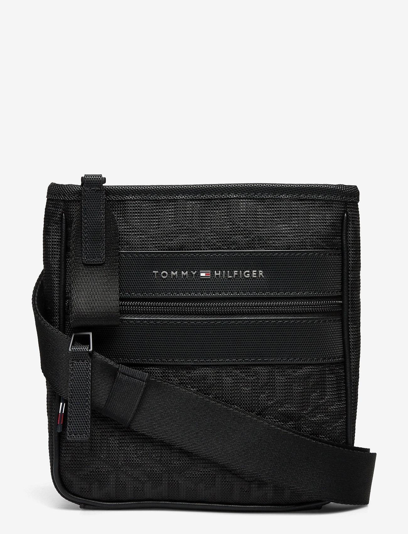 Tommy Hilfiger - ELEVATED NYLON MINI CROSSOV MONO - shoulder bags - black monogram - 0