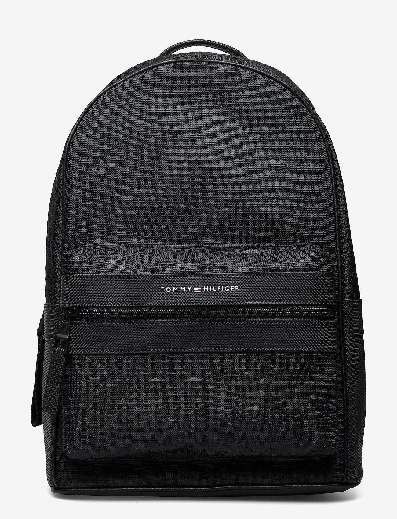 Tommy Hilfiger - ELEVATED NYLON BACKPACK MONO - bags - black monogram - 0
