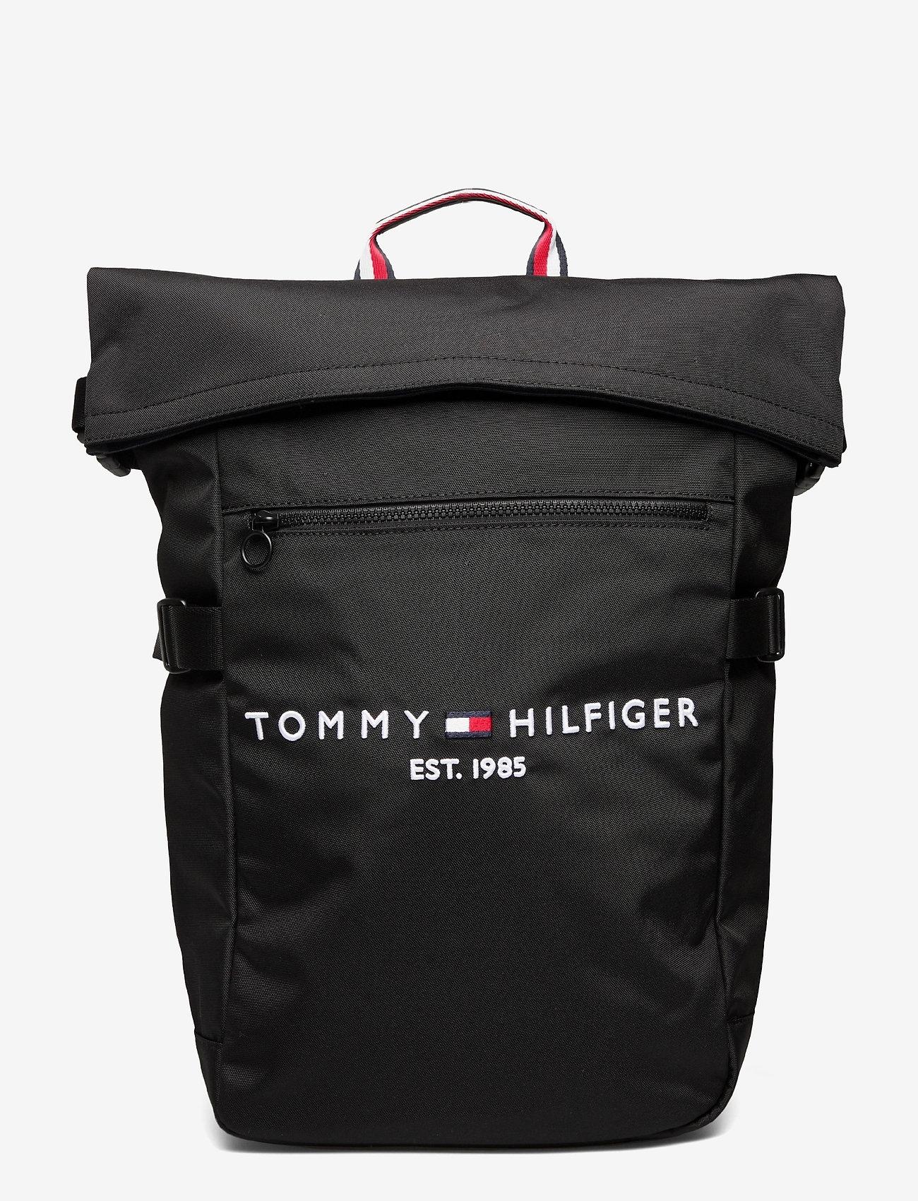 Tommy Hilfiger - TH ESTABLISHED ROLLTOP BACKPACK - bags - black - 0