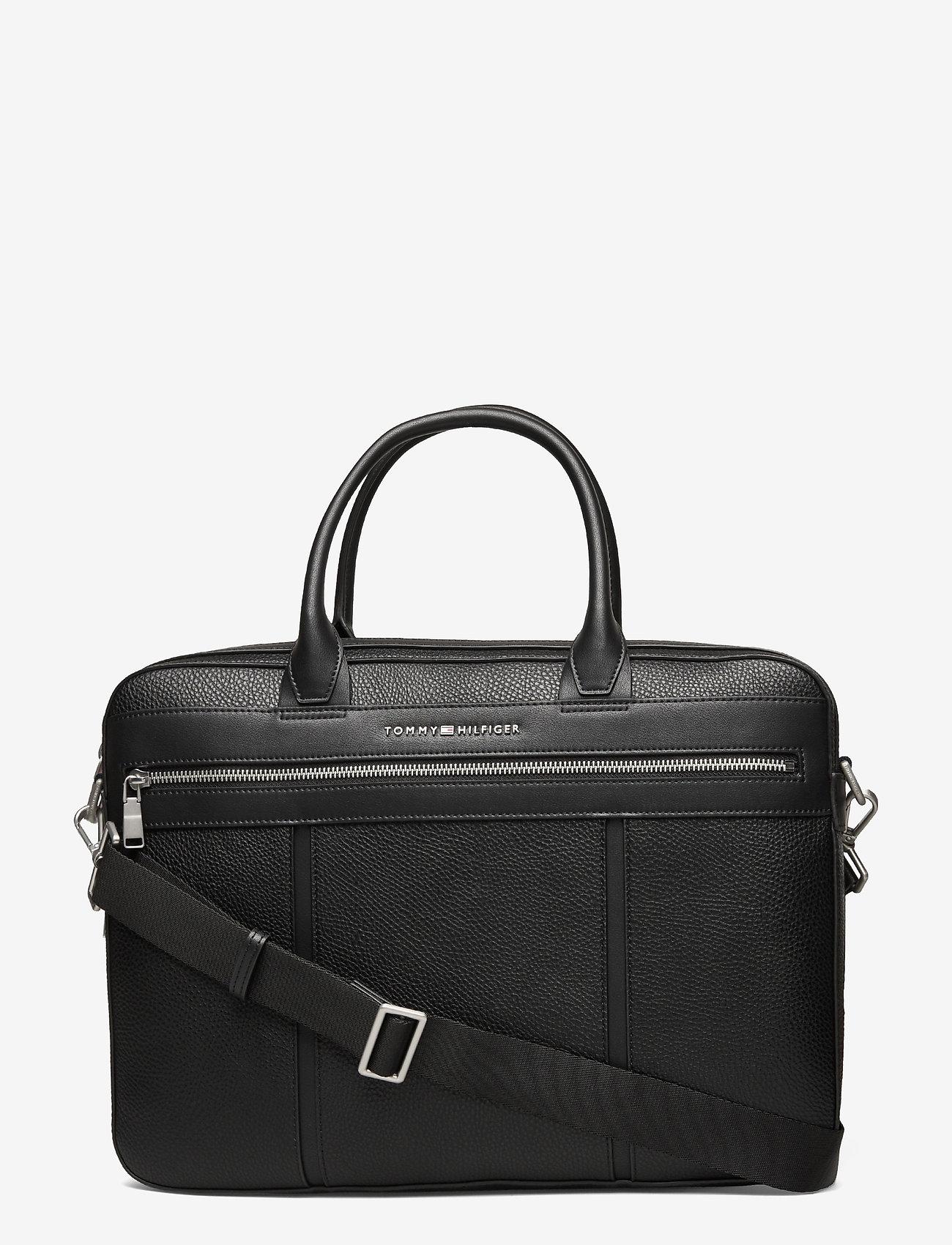 Tommy Hilfiger - TH DOWNTOWN SLIM COMP BAG - laptop bags - black - 0