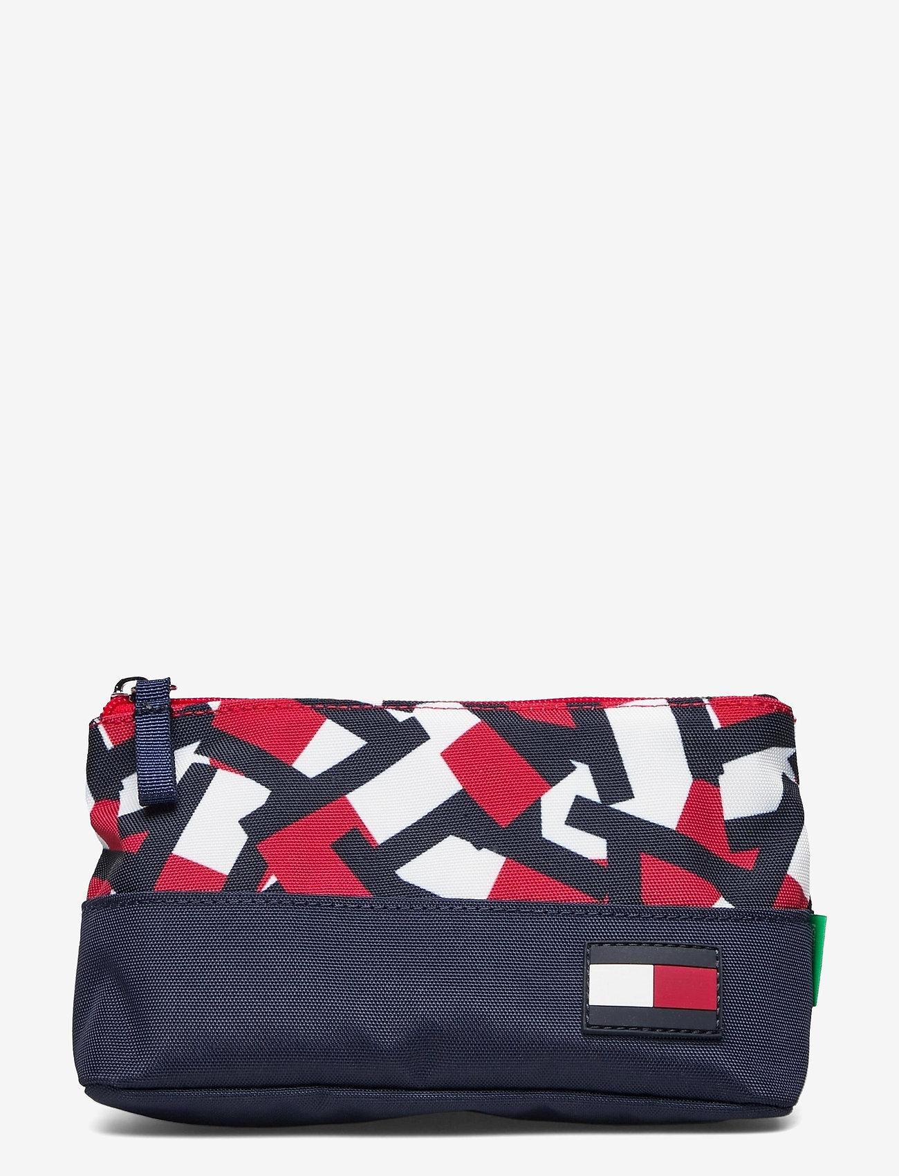 Tommy Hilfiger - BTS CORE PENCIL CASE FLAG PRINT - accessories - flag print colorblock - 0