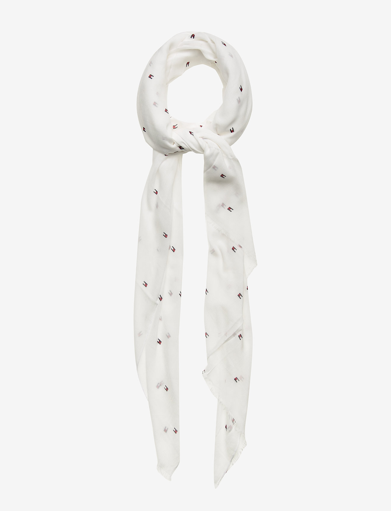 Tommy Hilfiger - FLAG ALLOVER PRINT - scarves - bright white - 0