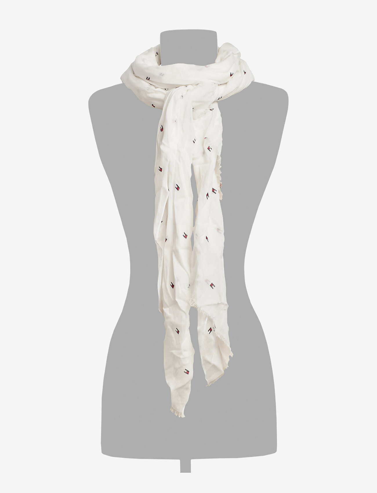 Tommy Hilfiger - FLAG ALLOVER PRINT - scarves - bright white - 1