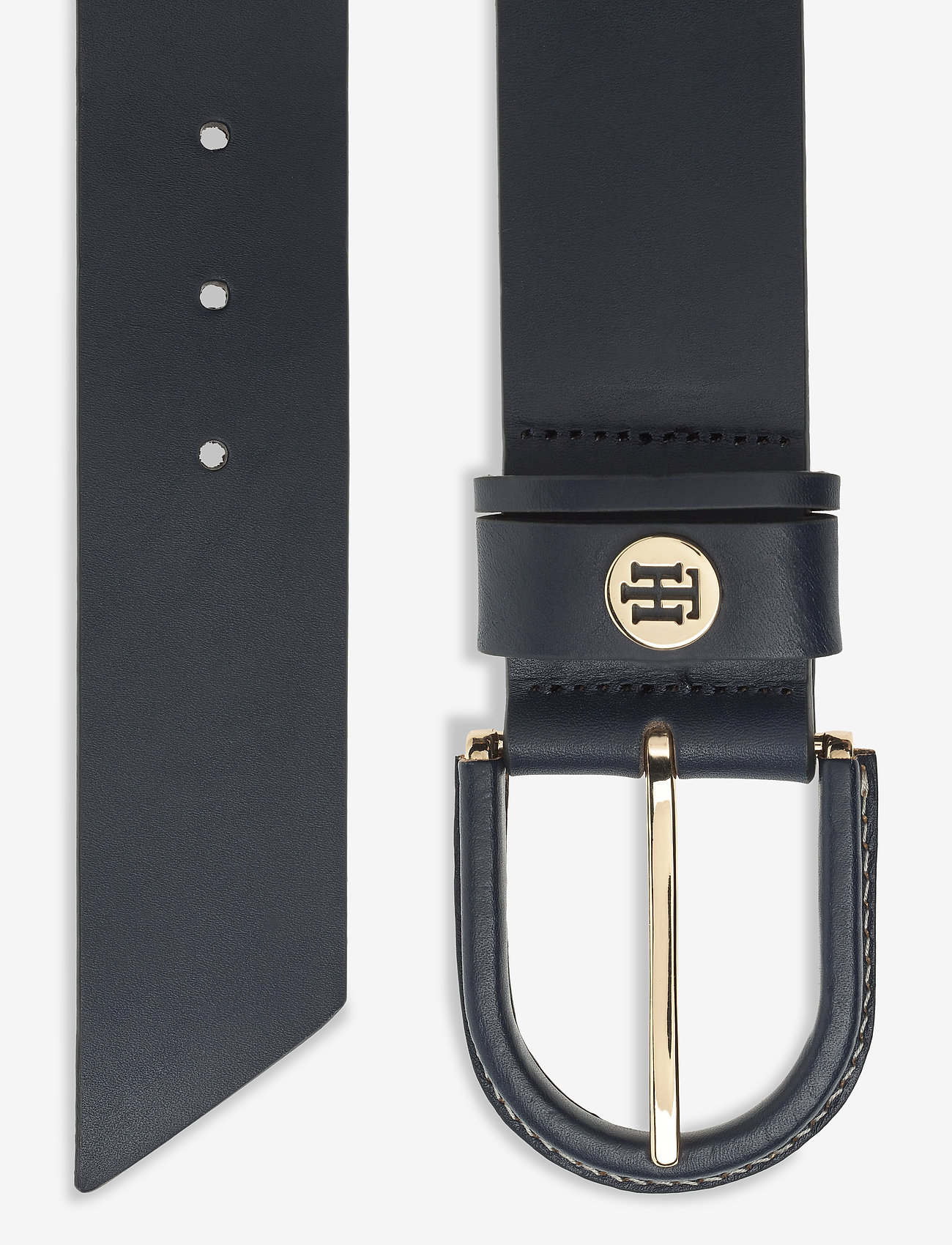 Tommy Hilfiger - HIGH WAIST OVAL BUCKLE BELT 4.5 - riemen - sky captain - 1