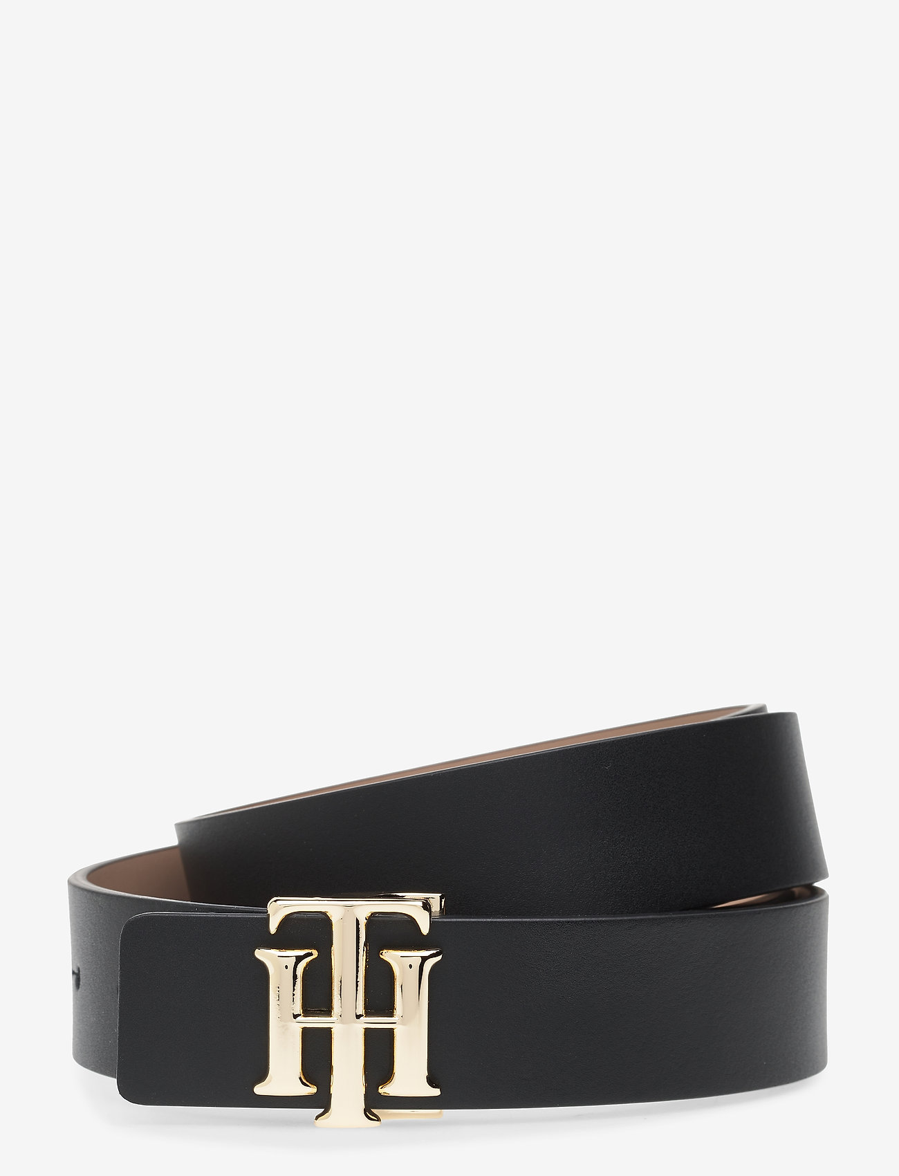 Tommy Hilfiger - TH LOGO REVERSIBLE BELT 3.0 - riemen - black / oakmont - 0