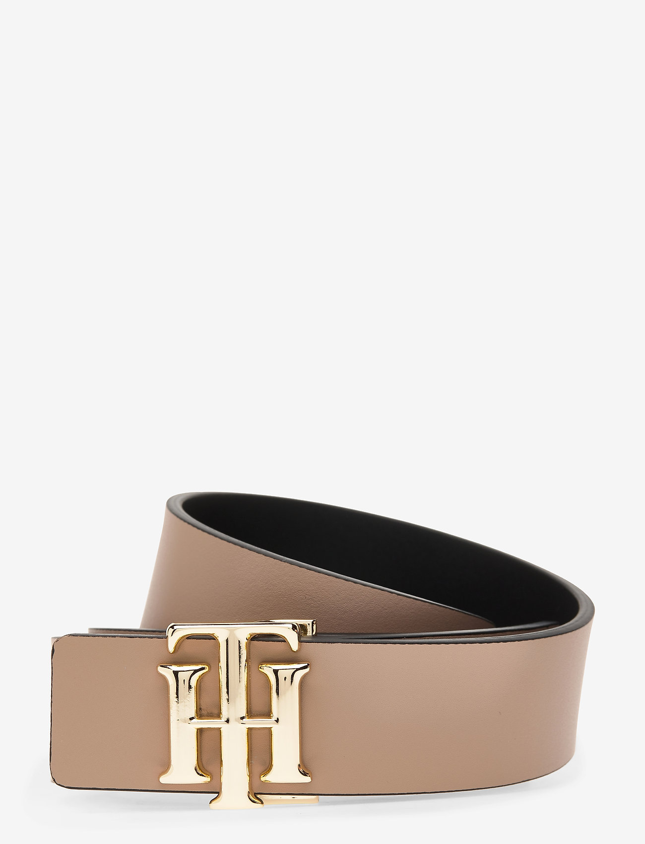 Tommy Hilfiger - TH LOGO REVERSIBLE BELT 3.0 - riemen - black / oakmont - 1