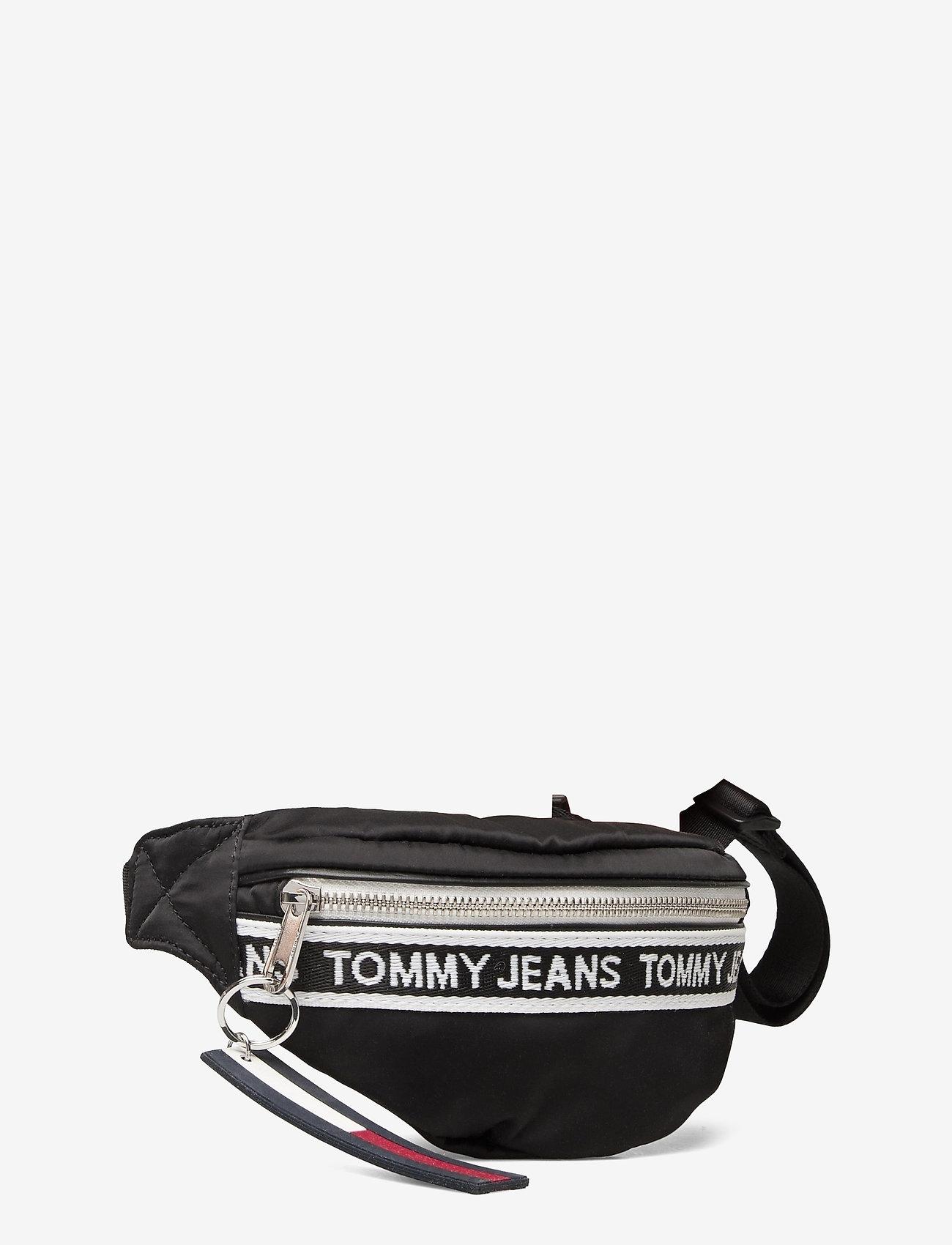 Tommy Hilfiger - TJW MINI LOGO TAPE BUMBAG NYLN - väskor - black - 2
