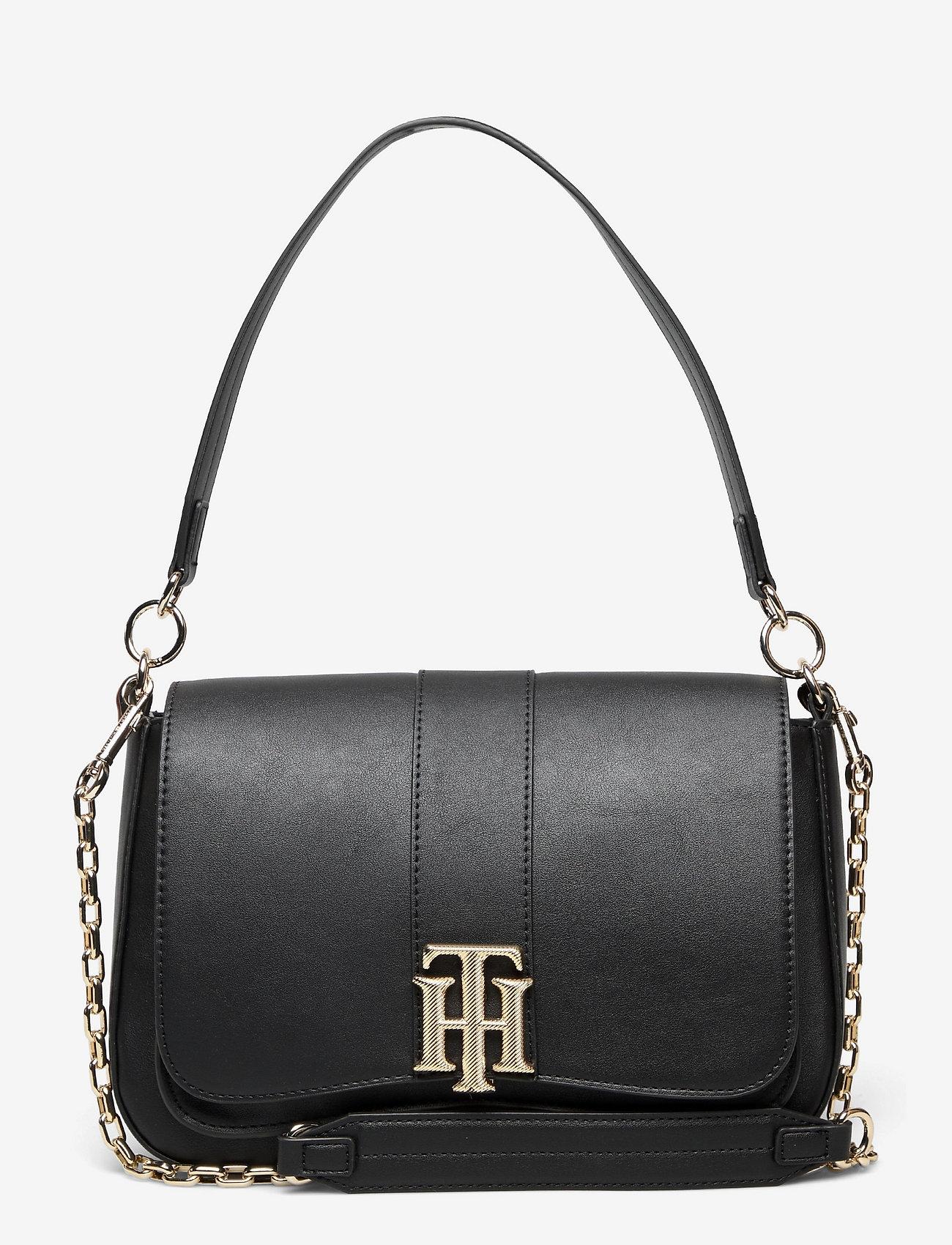 Tommy Hilfiger - TH LOCK SATCHEL - shoulder bags - black - 0