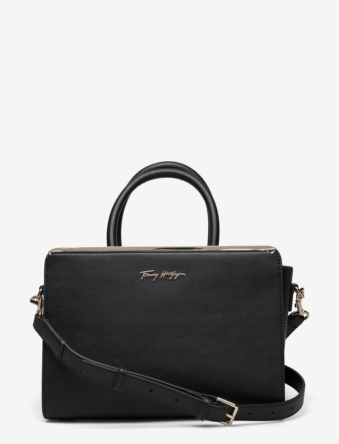 Tommy Hilfiger - TOMMY MODERN SATCHEL - handbags - black - 0