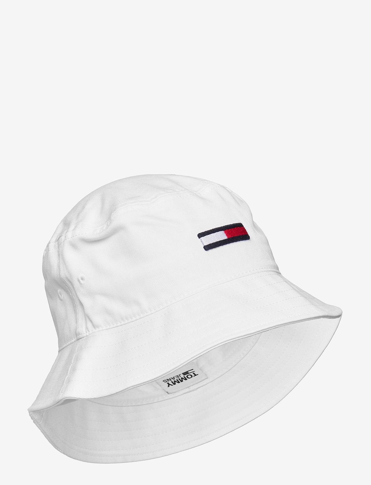 Tommy Hilfiger - TJW FLAG BUCKET HAT - bøllehatte - white - 0