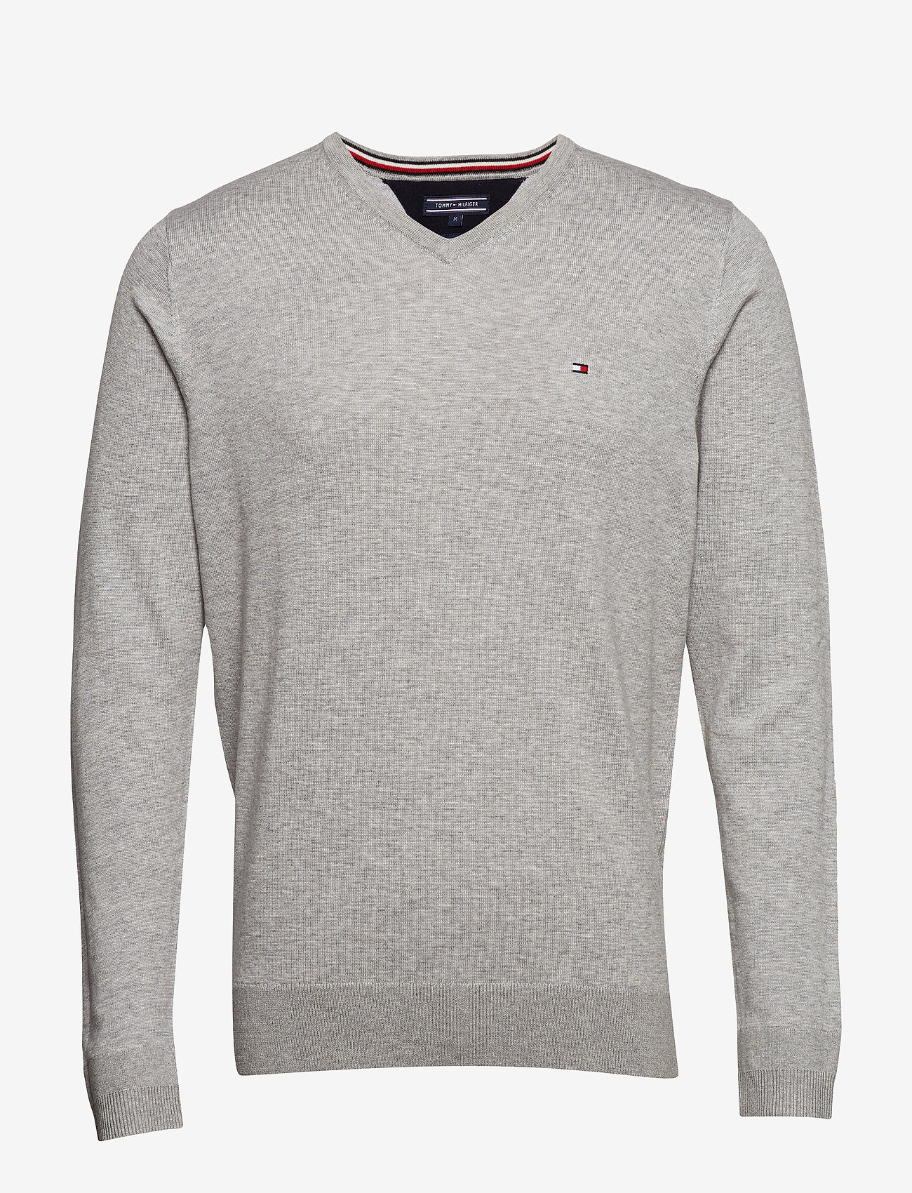 Tommy Hilfiger - CORE COTTON-SILK VNE - basic strik - cloud htr - 0