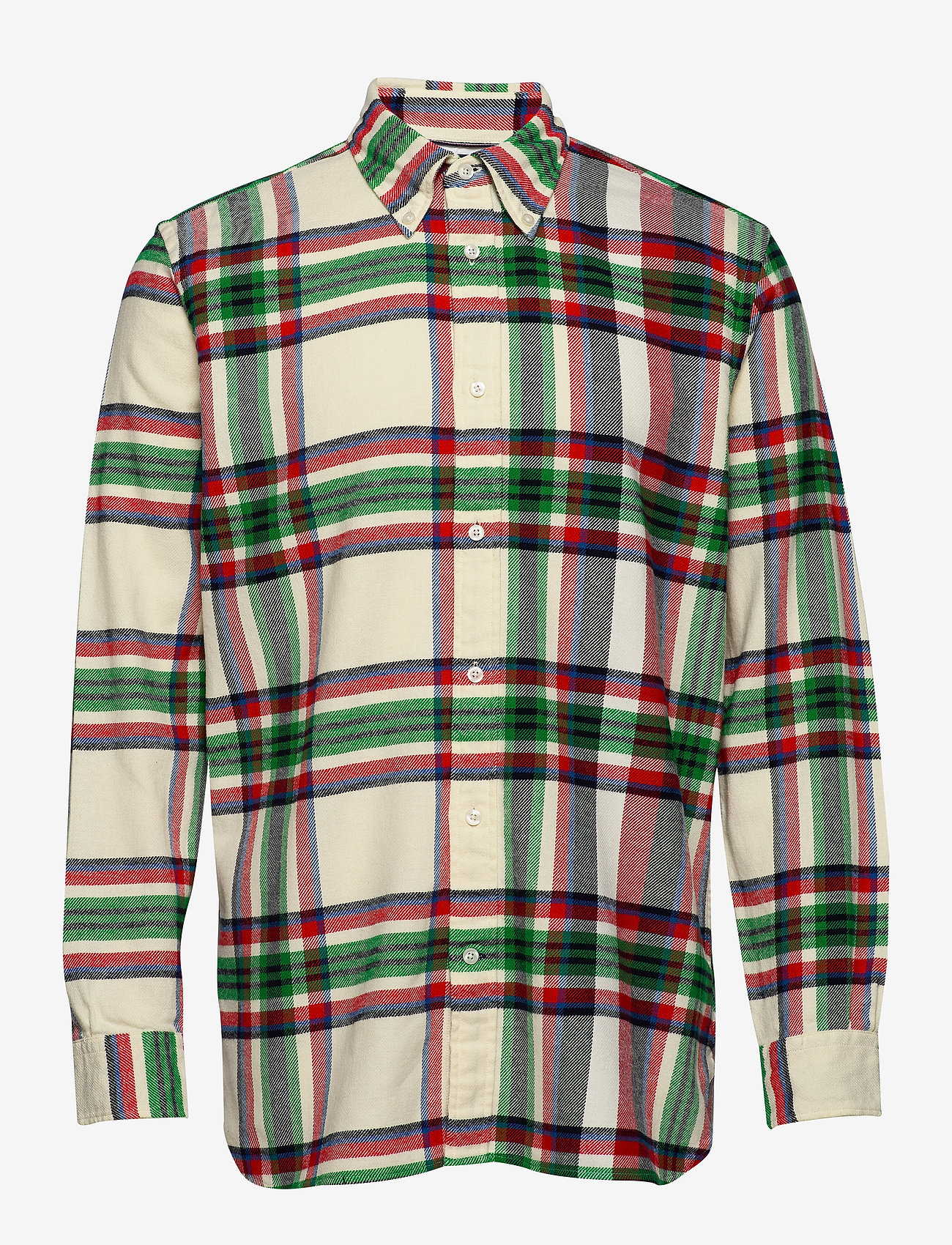 Tommy Hilfiger - RELAXED BLOWN UP CHE - rutede skjorter - lemon icing / jelly bean / mul - 0