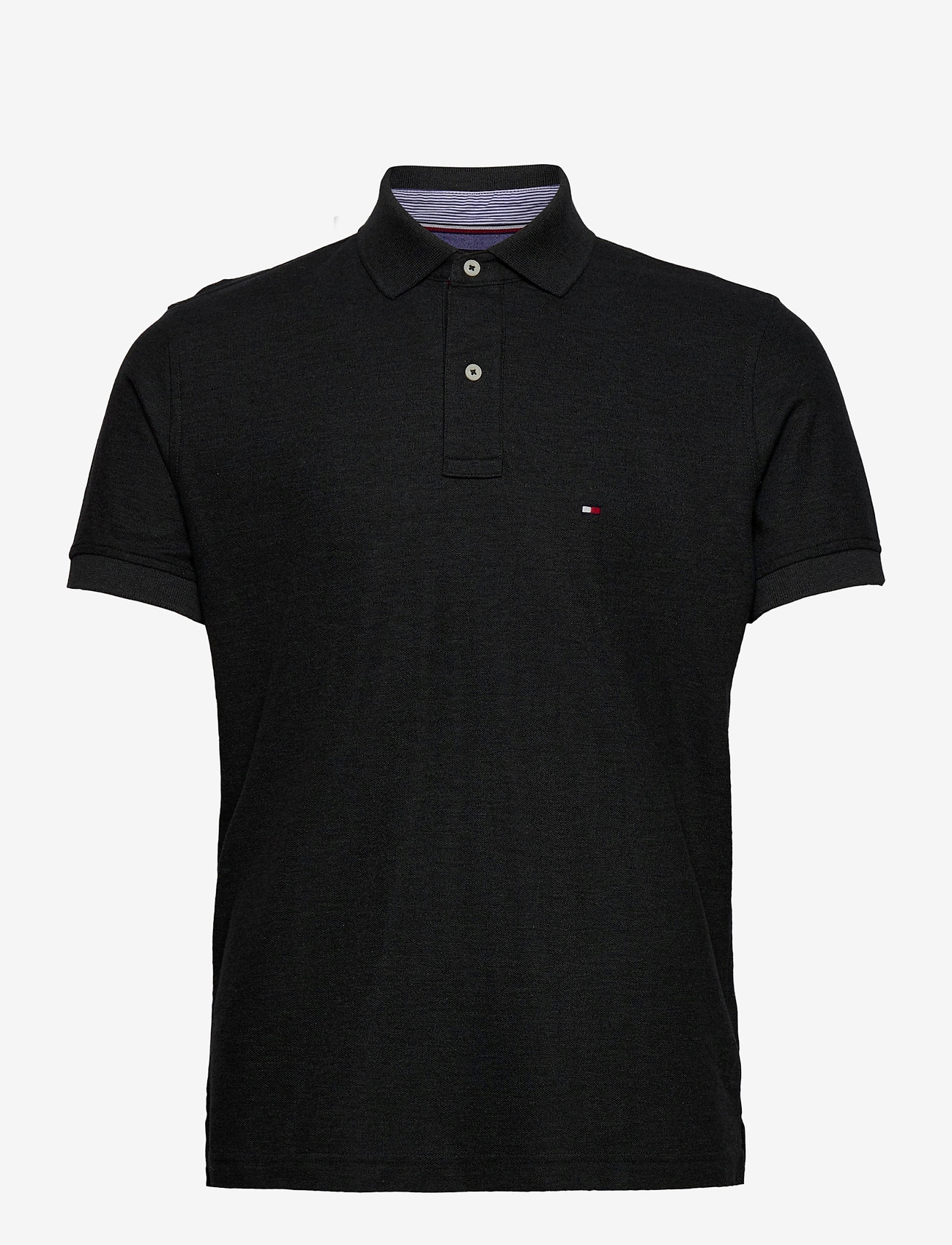 Tommy Hilfiger - HILFIGER REGULAR POL - kortermede - black heather - 0