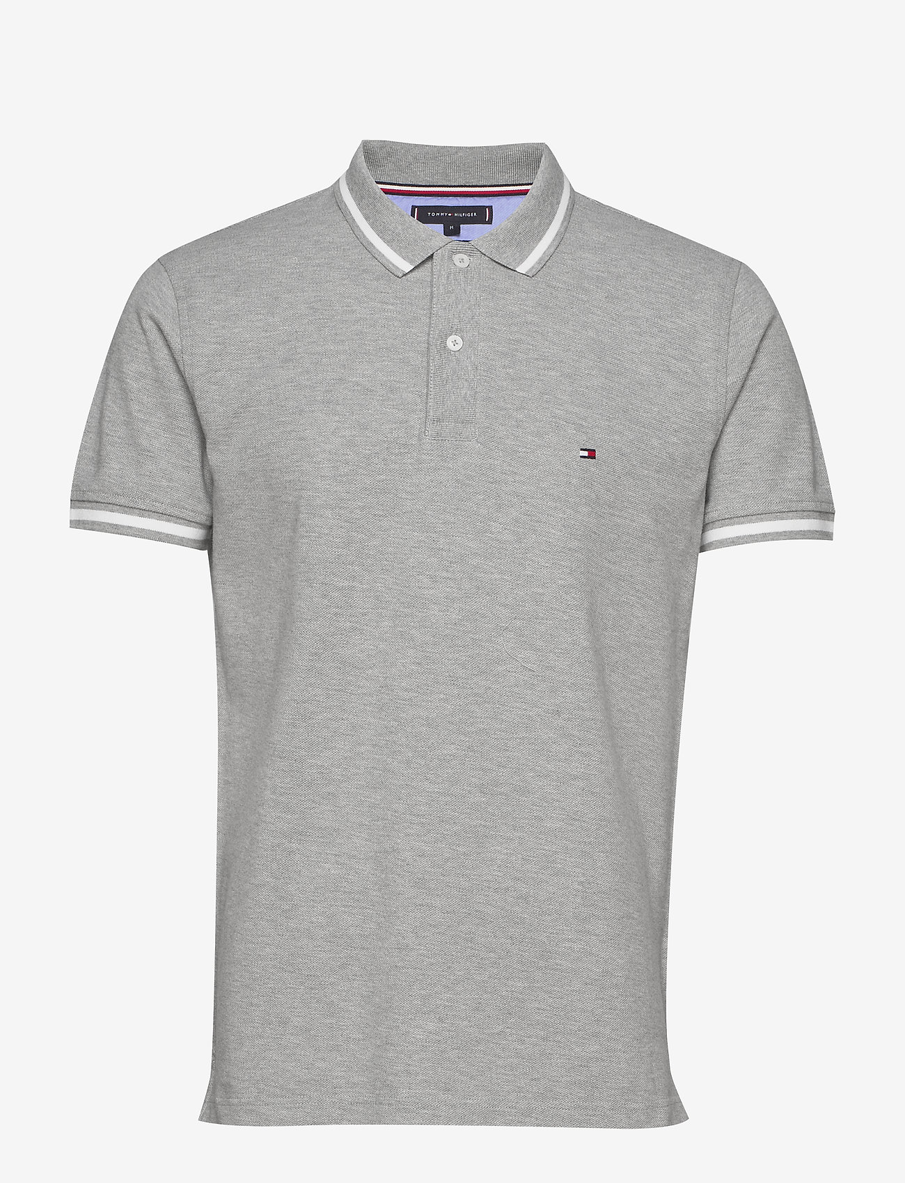 Tommy Hilfiger - BASIC TIPPED REGULAR - kortermede - medium grey heather - 0