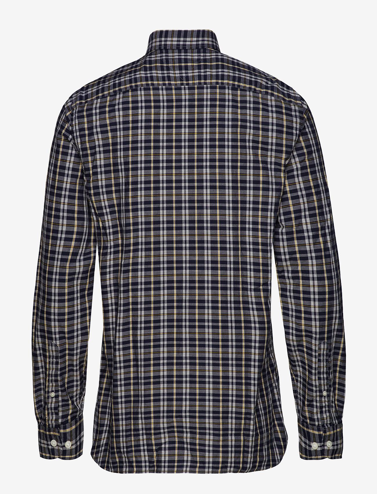 Tommy Hilfiger - HEATHER MULTI WINDOWPANE SHIRT - rutede skjorter - navy blazer / spectra yellow / - 1