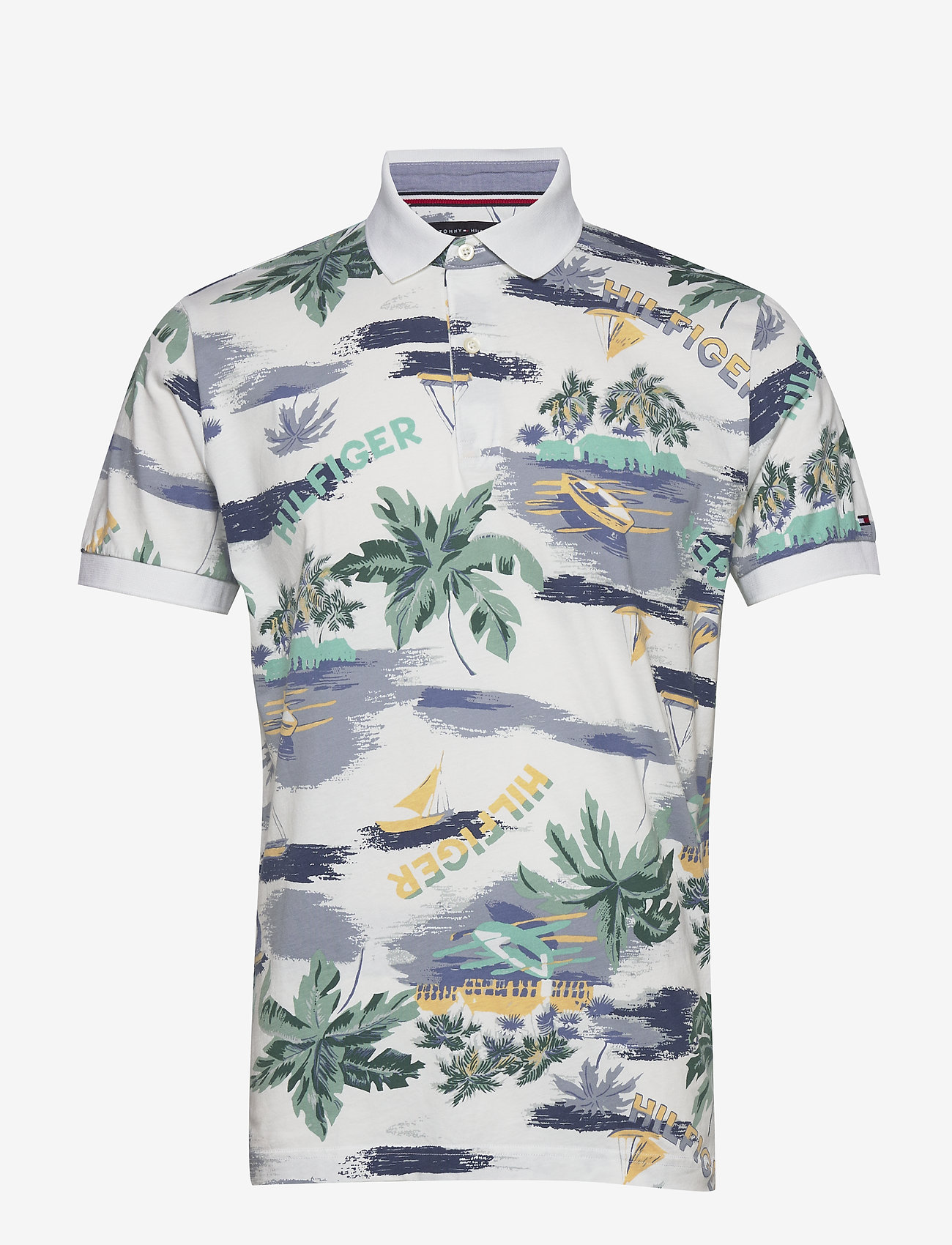 Tommy Hilfiger - SUMMER PRINT REGULAR - short-sleeved polos - white - 0