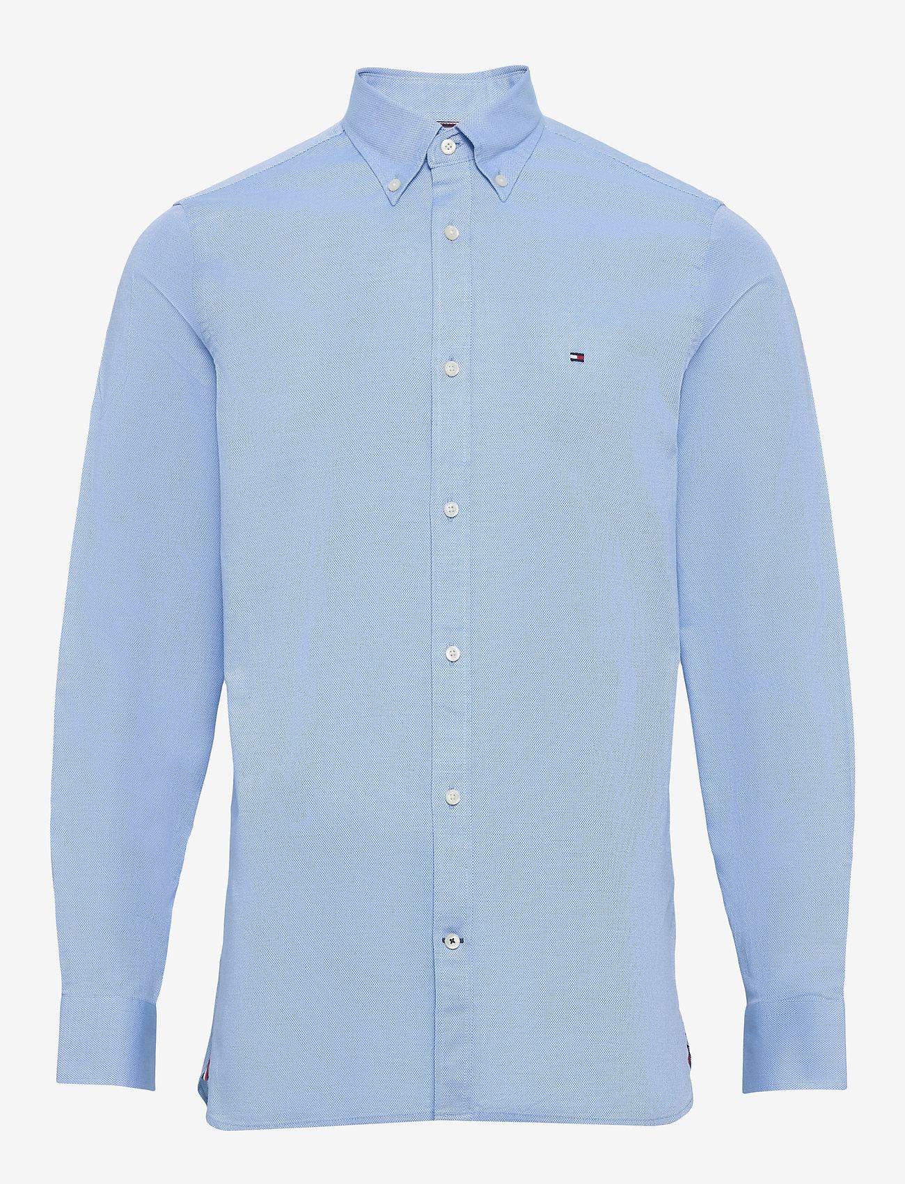 Tommy Hilfiger - SLIM FLEX ESSENTIAL DOBBY SHIRT - basic skjorter - copenhagen blue - 0