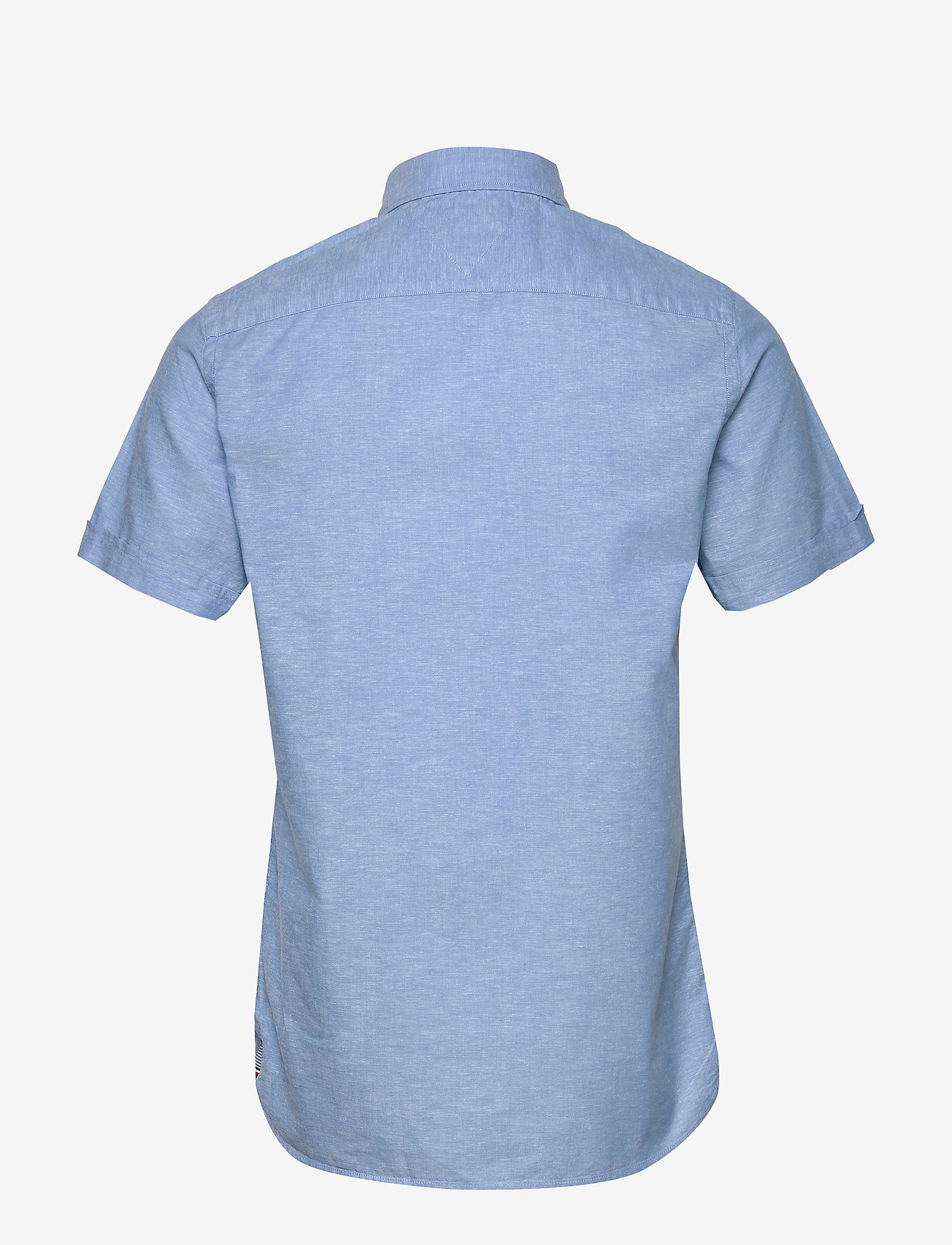 Tommy Hilfiger - SLIM COTTON LINEN SHIRT S/S - short-sleeved shirts - blue ink - 1