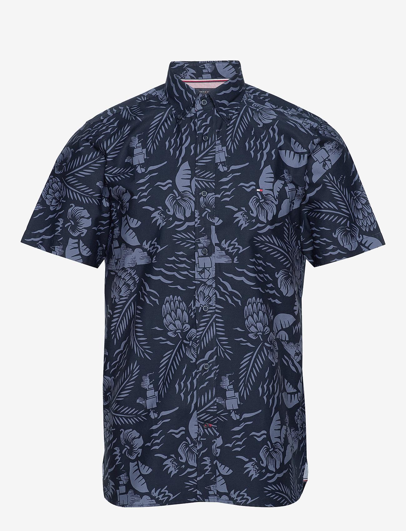 Tommy Hilfiger - LARGE SEASONAL PRINT - short-sleeved shirts - desert sky / faded indigo - 0