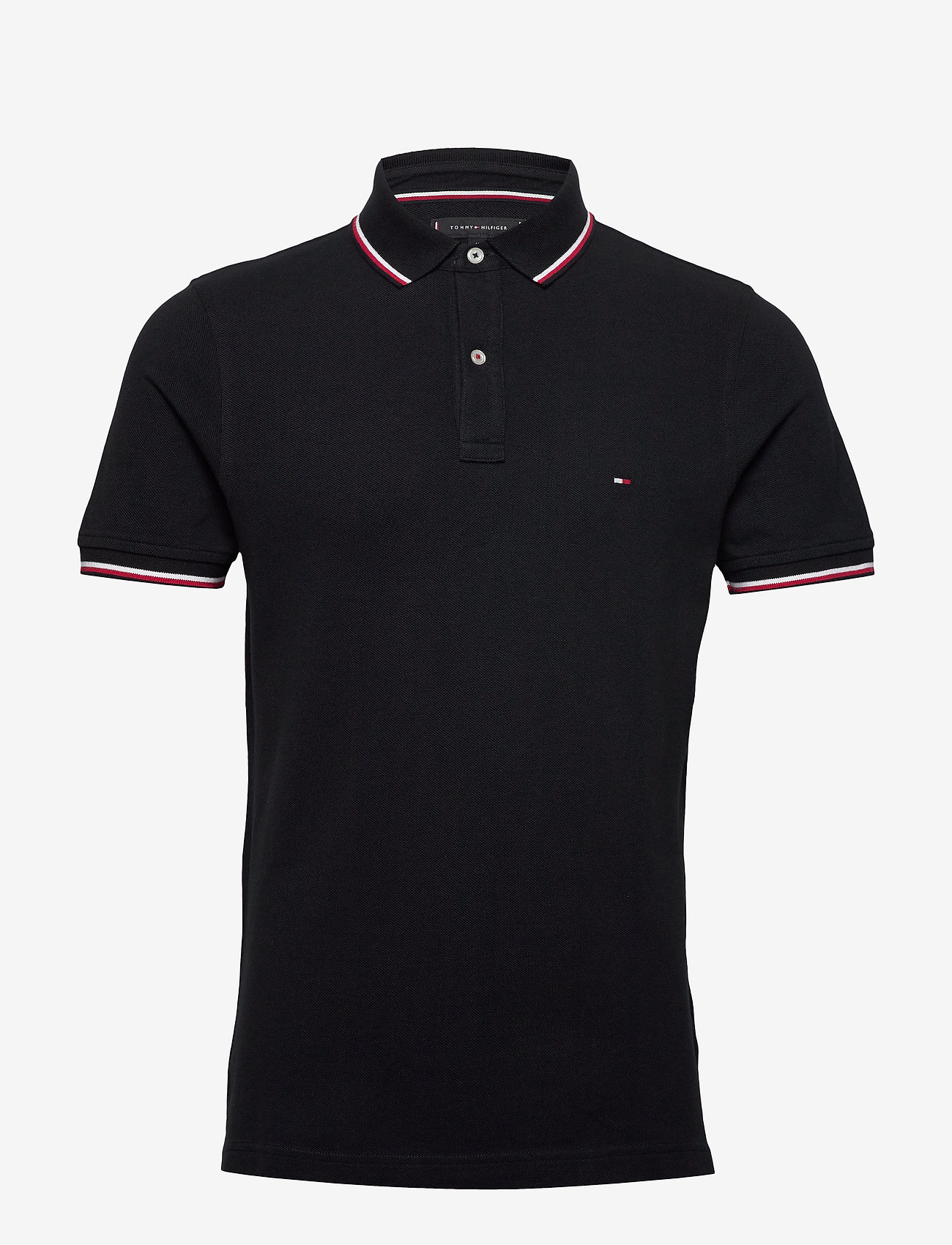 Tommy Hilfiger - CORE TOMMY TIPPED SLIM POLO - poloshirts - desert sky - 0