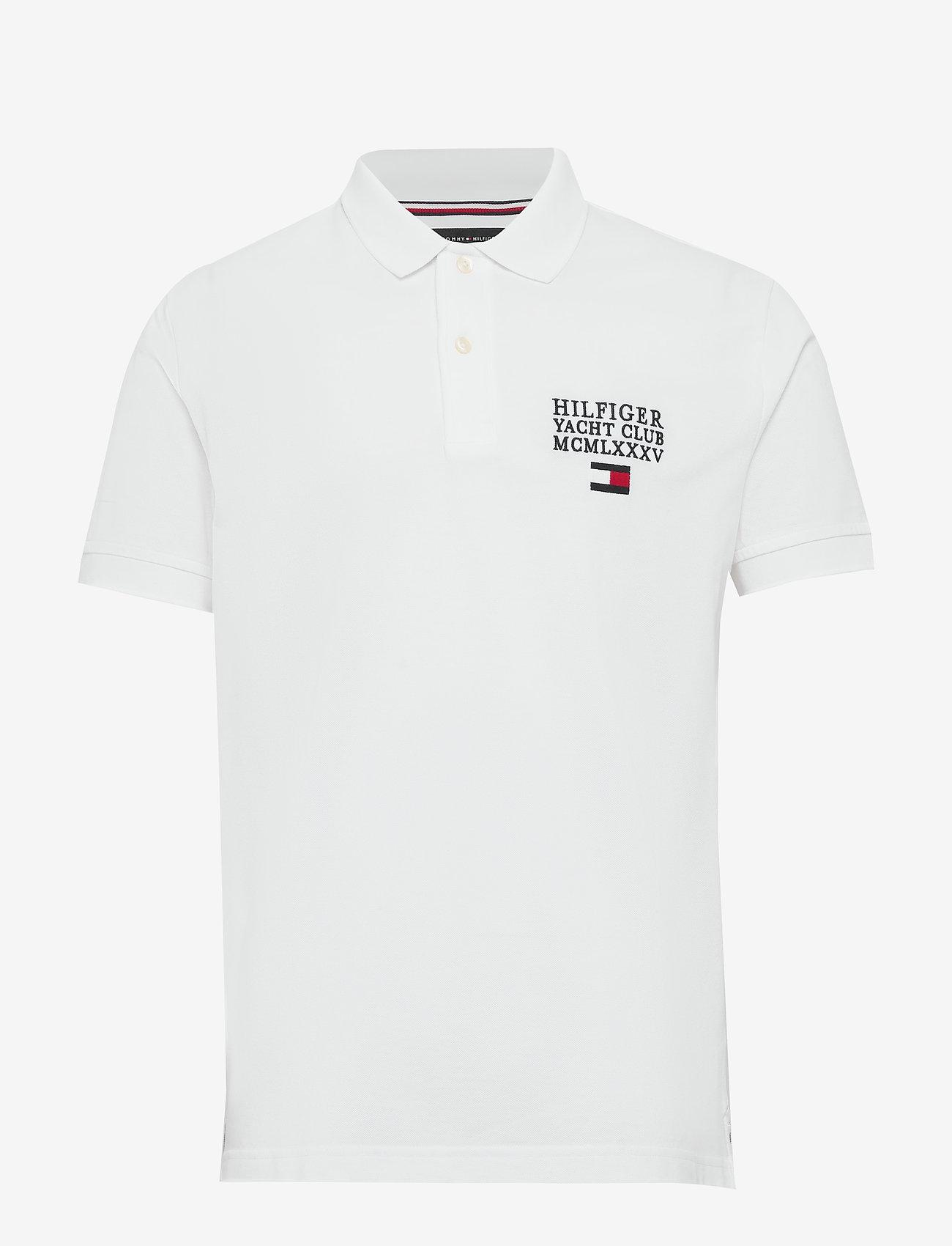 Tommy Hilfiger - HILFIGER ARTWORK REG - short-sleeved polos - white - 0
