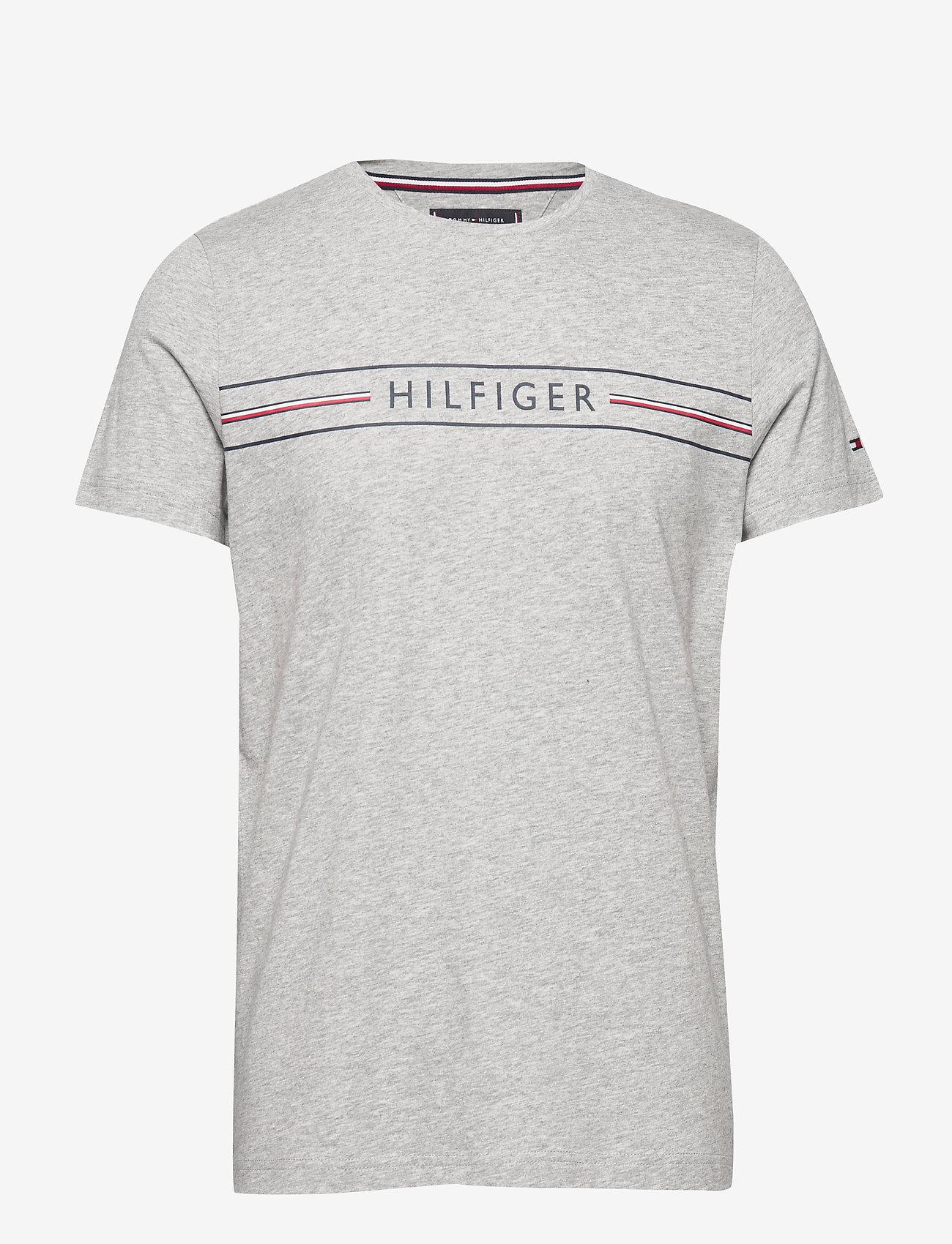Tommy Hilfiger - CORP HILFIGER TEE - kortermede t-skjorter - medium grey heather