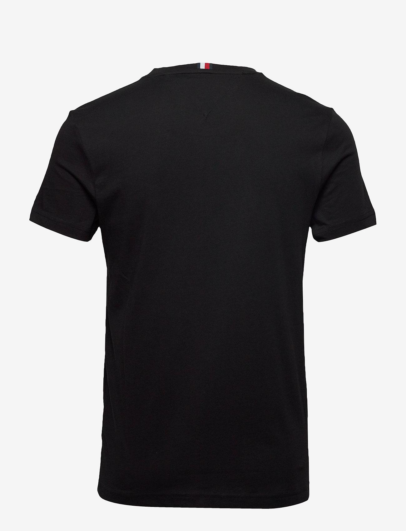 Tommy Hilfiger - BLOCK STRIPE HILFIGE - short-sleeved t-shirts - black