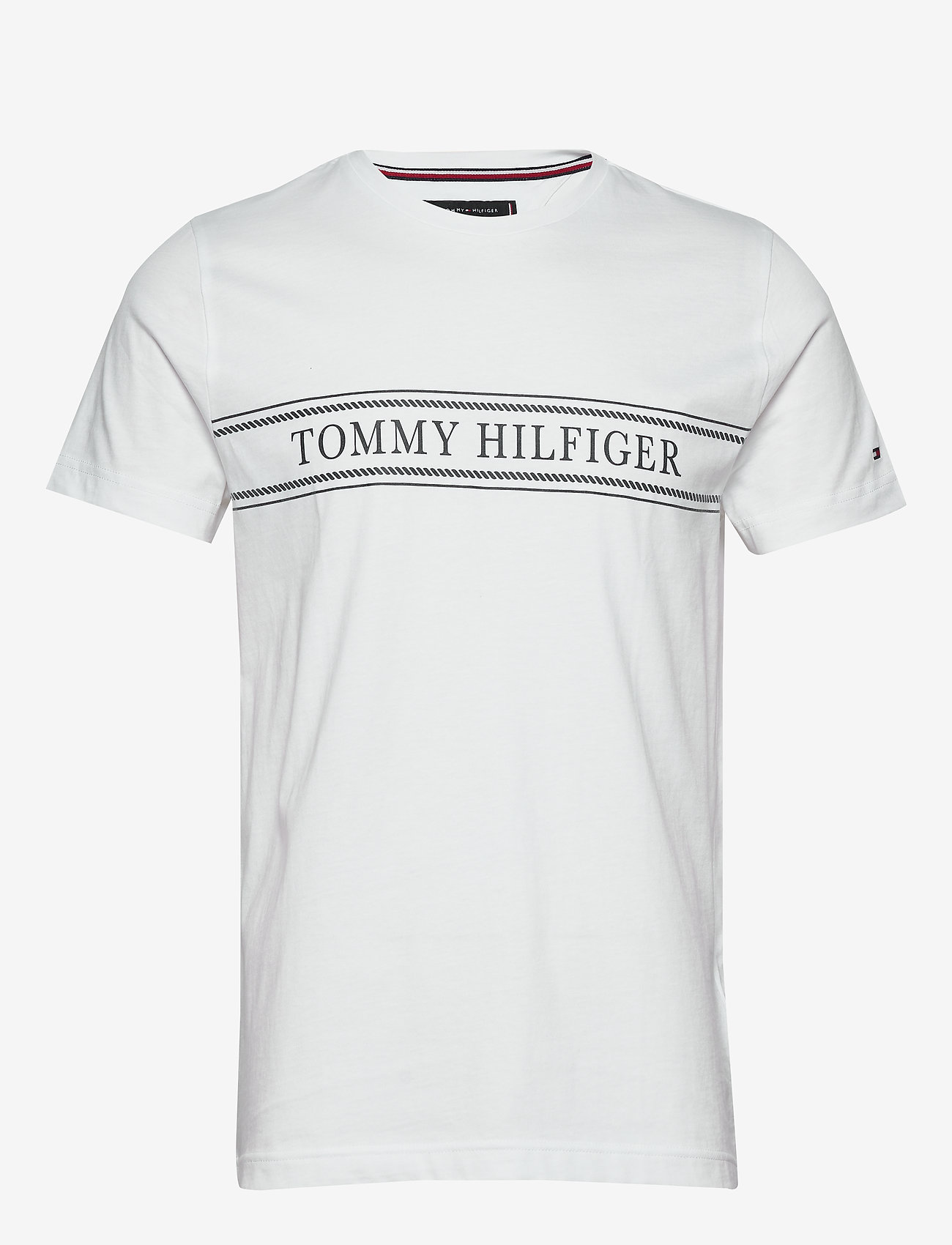 Tommy Hilfiger - ROPE STRIPE TEE - short-sleeved t-shirts - white - 0