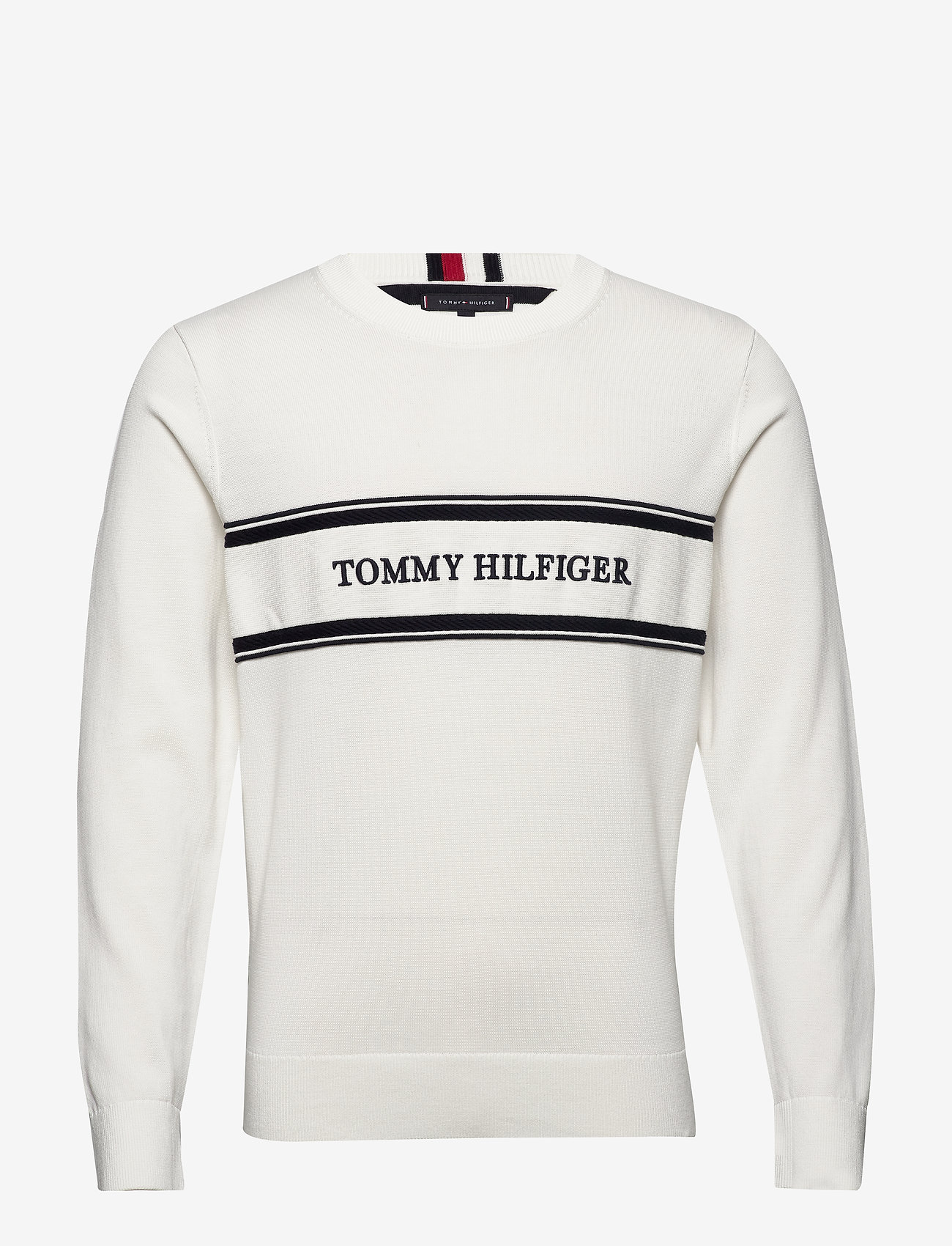 Tommy Hilfiger - ROPE LOGO SWEATER - rund hals - ecru - 0