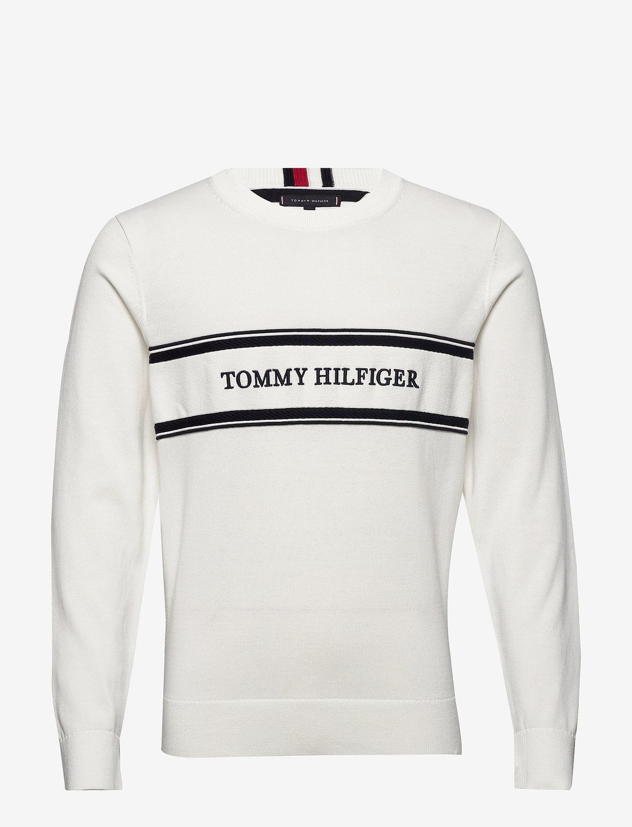 Tommy Hilfiger - ROPE LOGO SWEATER - pulls col rond - ecru - 0