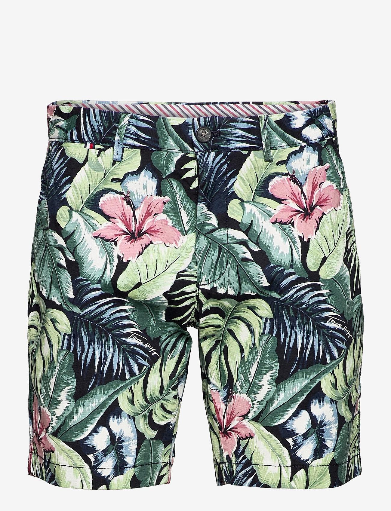 Tommy Hilfiger - BROOKLYN SHORT AO PRINT - casual shorts - floral print green - 0