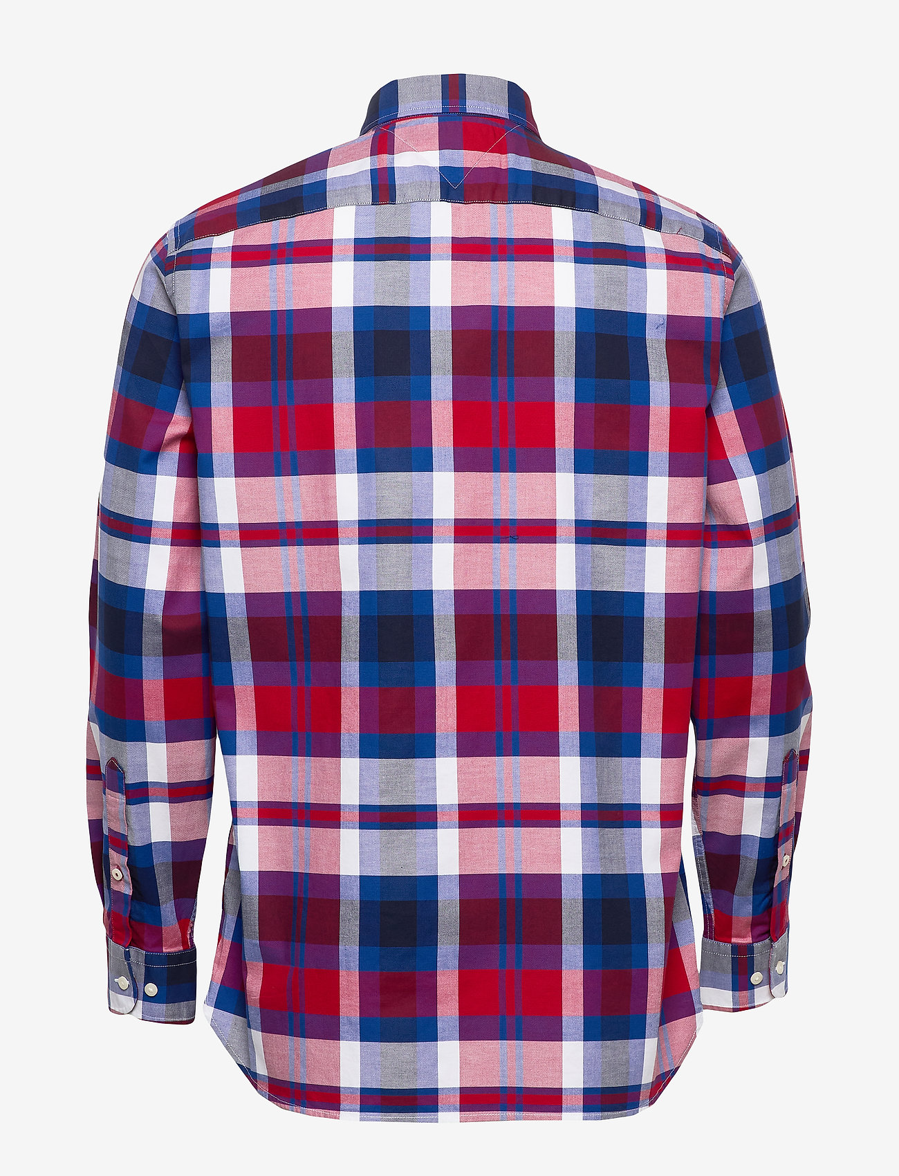 Tommy Hilfiger - FLEX BRIGHT MIDSCALE CHECK SHIRT - rutede skjorter - primary red / phthalo blue / m - 1