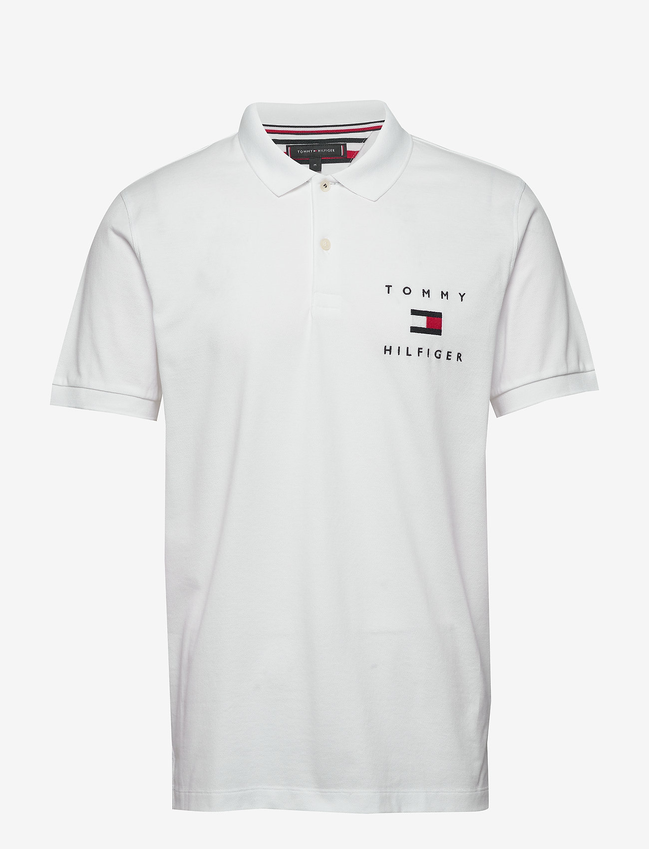 Tommy Hilfiger - TOMMY FLAG HILFIGER REG POLO - polos à manches courtes - white - 0