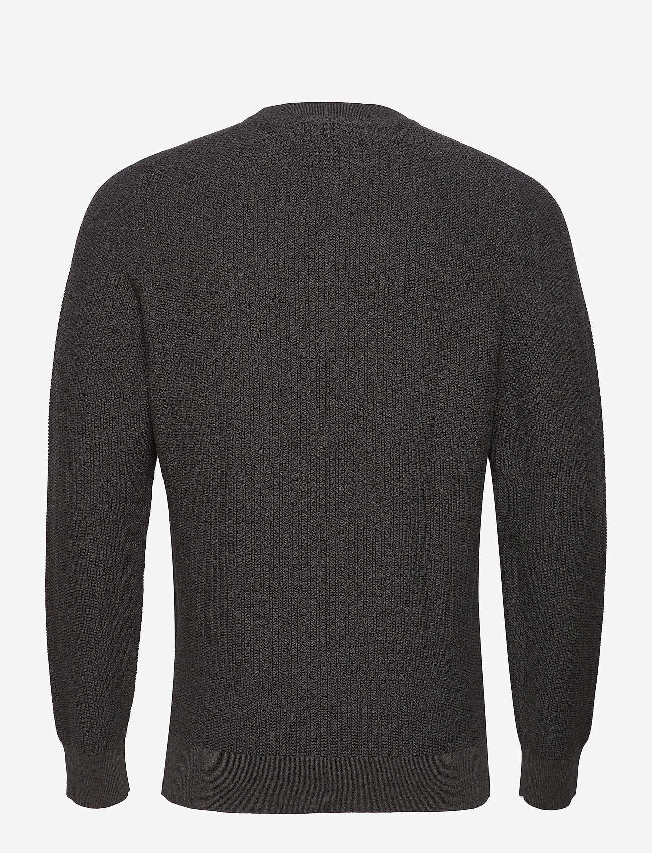 Tommy Hilfiger - BOLD TEXTURED COTTON SWEATER - basic strik - charcoal heather - 1