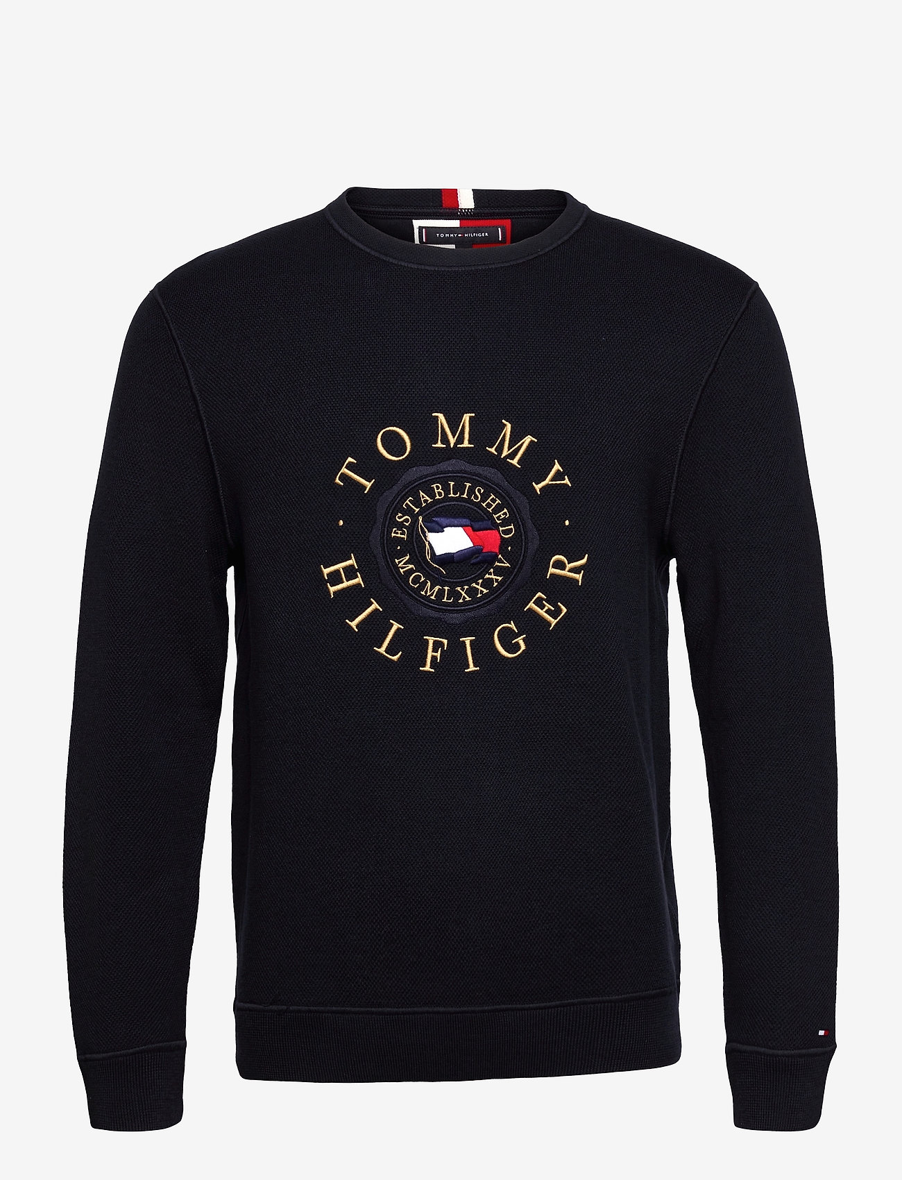 Tommy Hilfiger - STRUCTURED GRAPHIC SWEATER - desert sky - 0