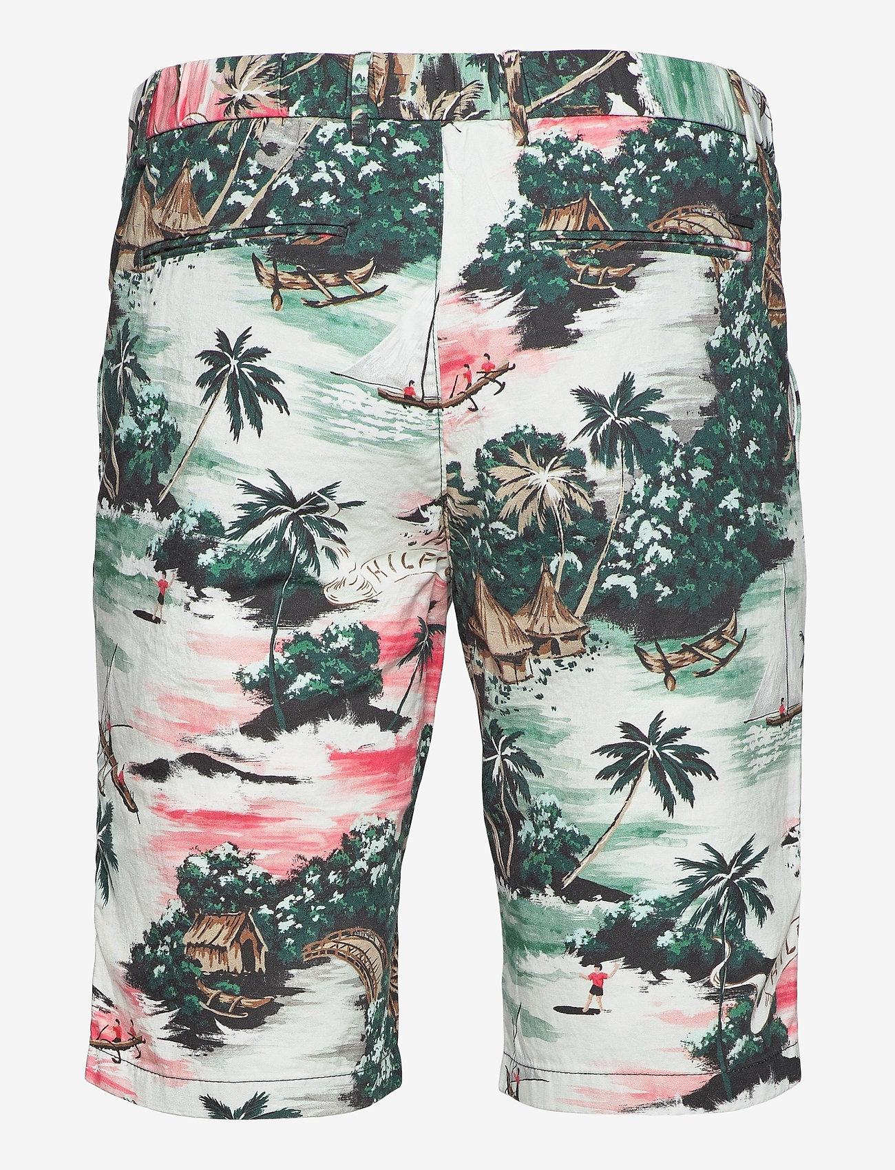 Tommy Hilfiger - HMPTN AOP HAWAIIAN SHORT - casual shorts - summer sunset - 1