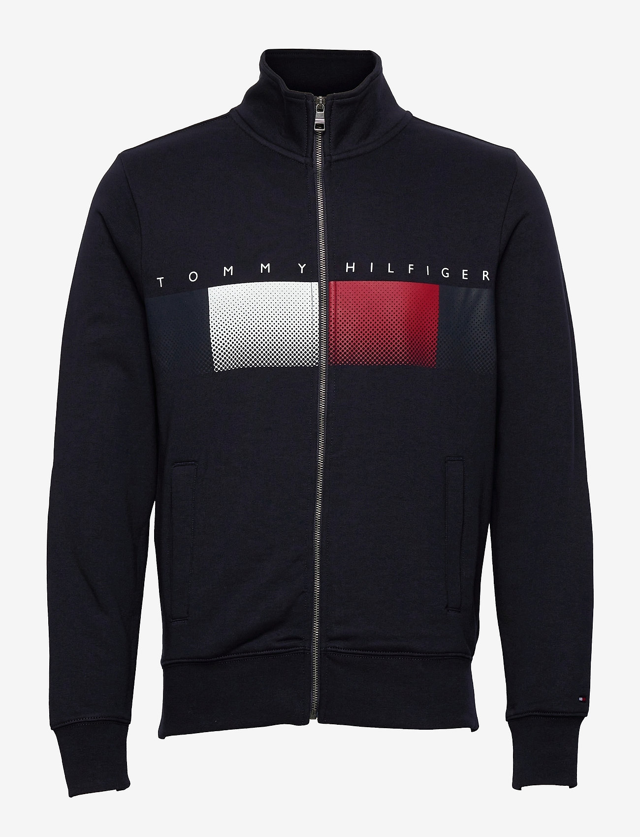 Tommy Hilfiger - LOGO FULL ZIP MOCK NECK - clothing - desert sky - 0