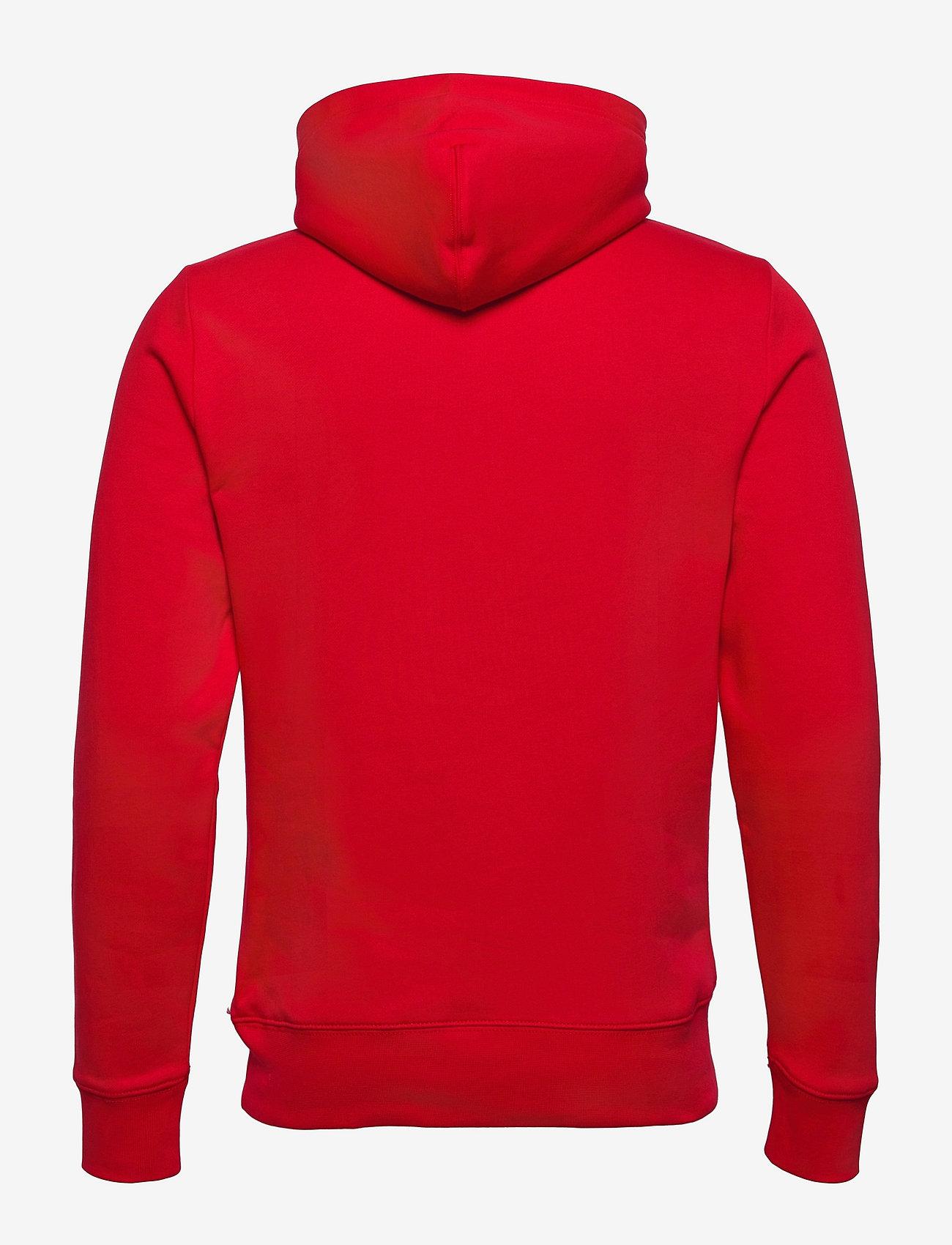 Tommy Hilfiger - SPLIT CORP STRIPE HOODY - hoodies - primary red - 1