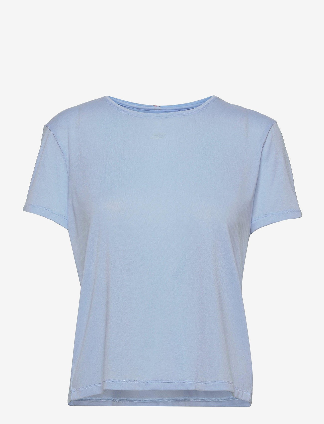Tommy Hilfiger - RELAXED C-NK OPEN BACK TEE SS - t-shirts - sweet blue - 0