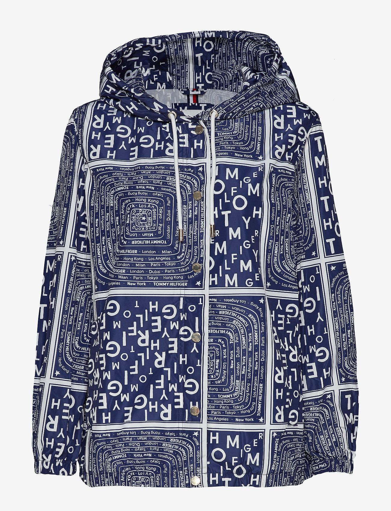 Tommy Hilfiger - SUKI PACKABLE WINDBR - vestes legères - scarf prt ow / medieval blue - 1