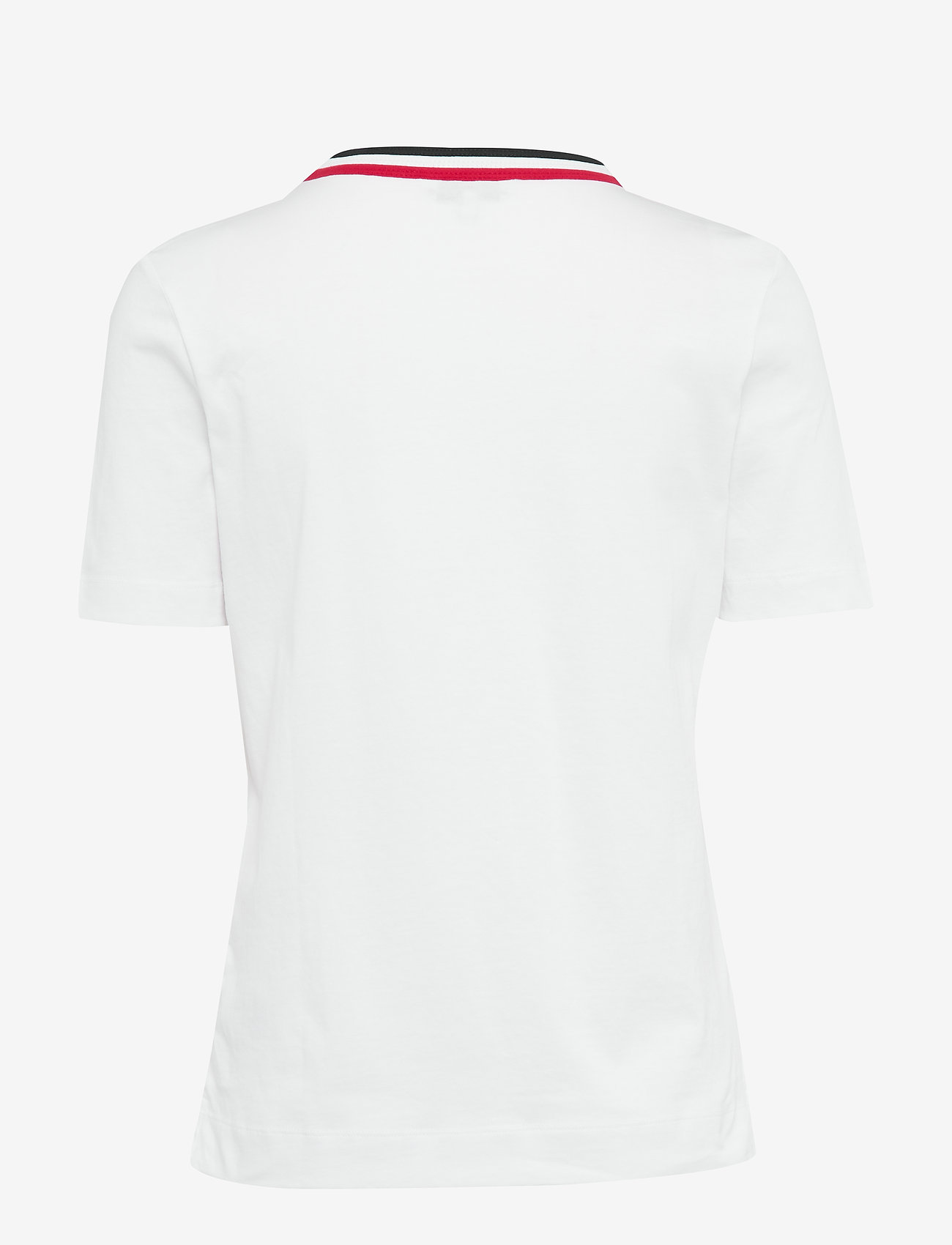 Tommy Hilfiger Th Essential C-nk Top Ss - T-shirts & Toppar White