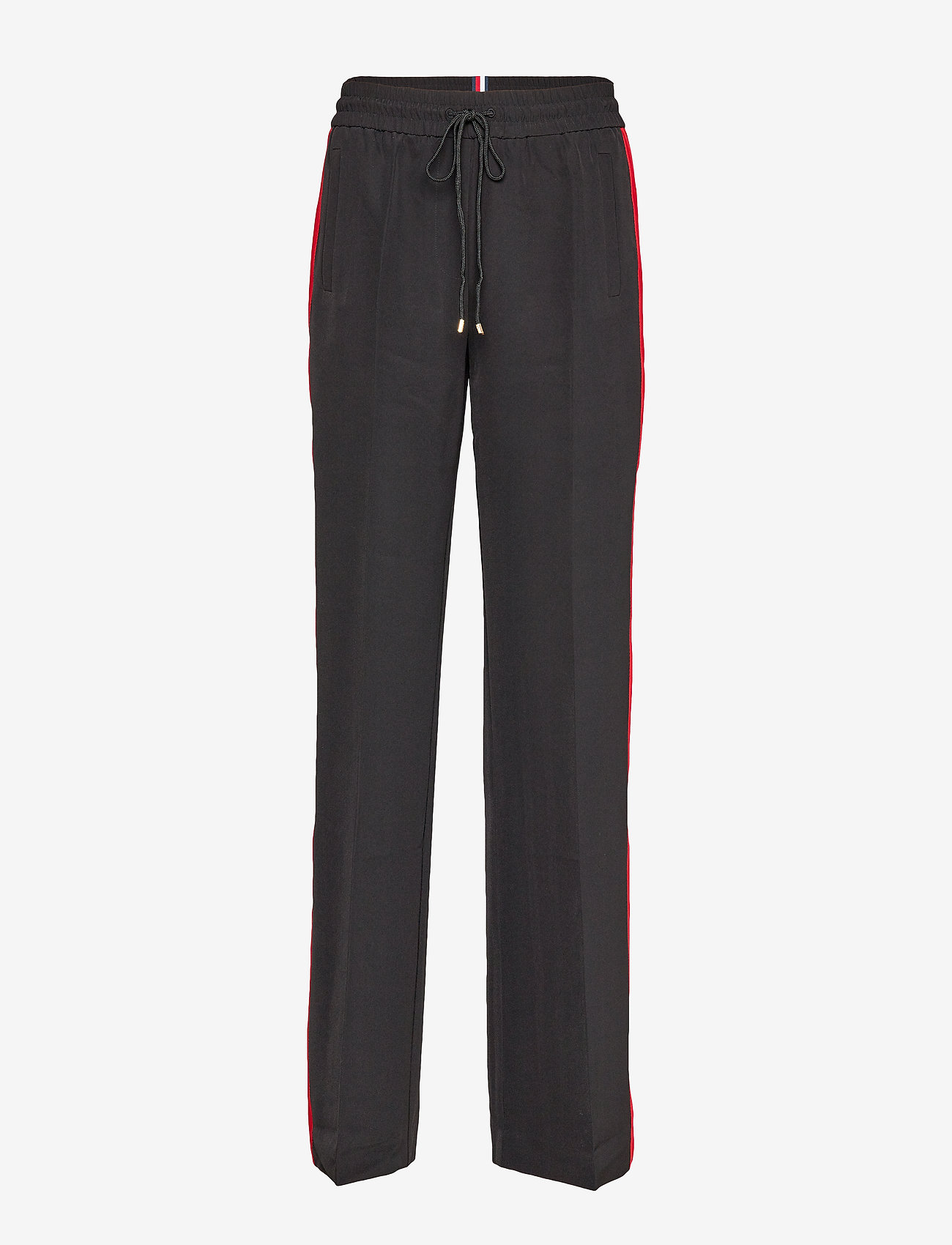 Tommy Hilfiger - TH ESSENTIAL CREPE TRACK PANT - wide leg trousers - meteorite - 0