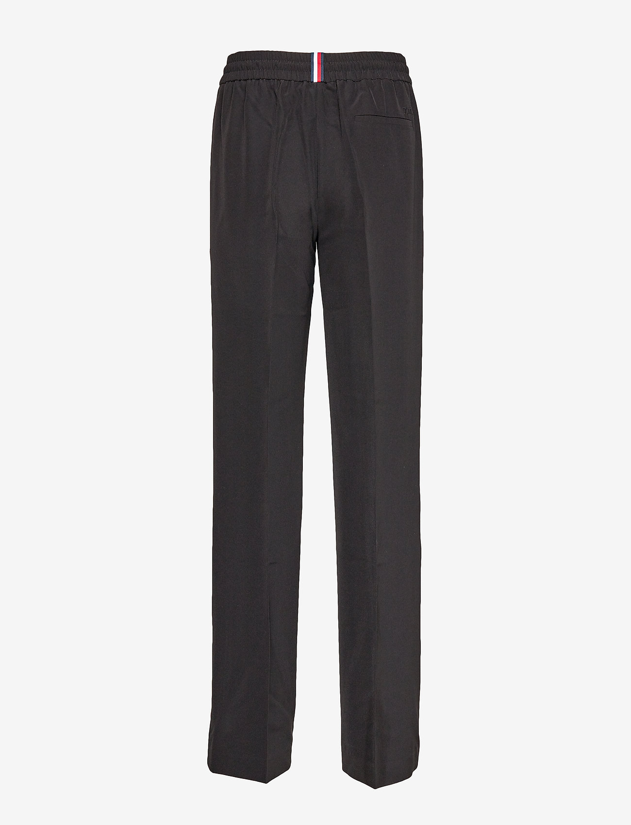 Tommy Hilfiger - TH ESSENTIAL CREPE TRACK PANT - wide leg trousers - meteorite - 1